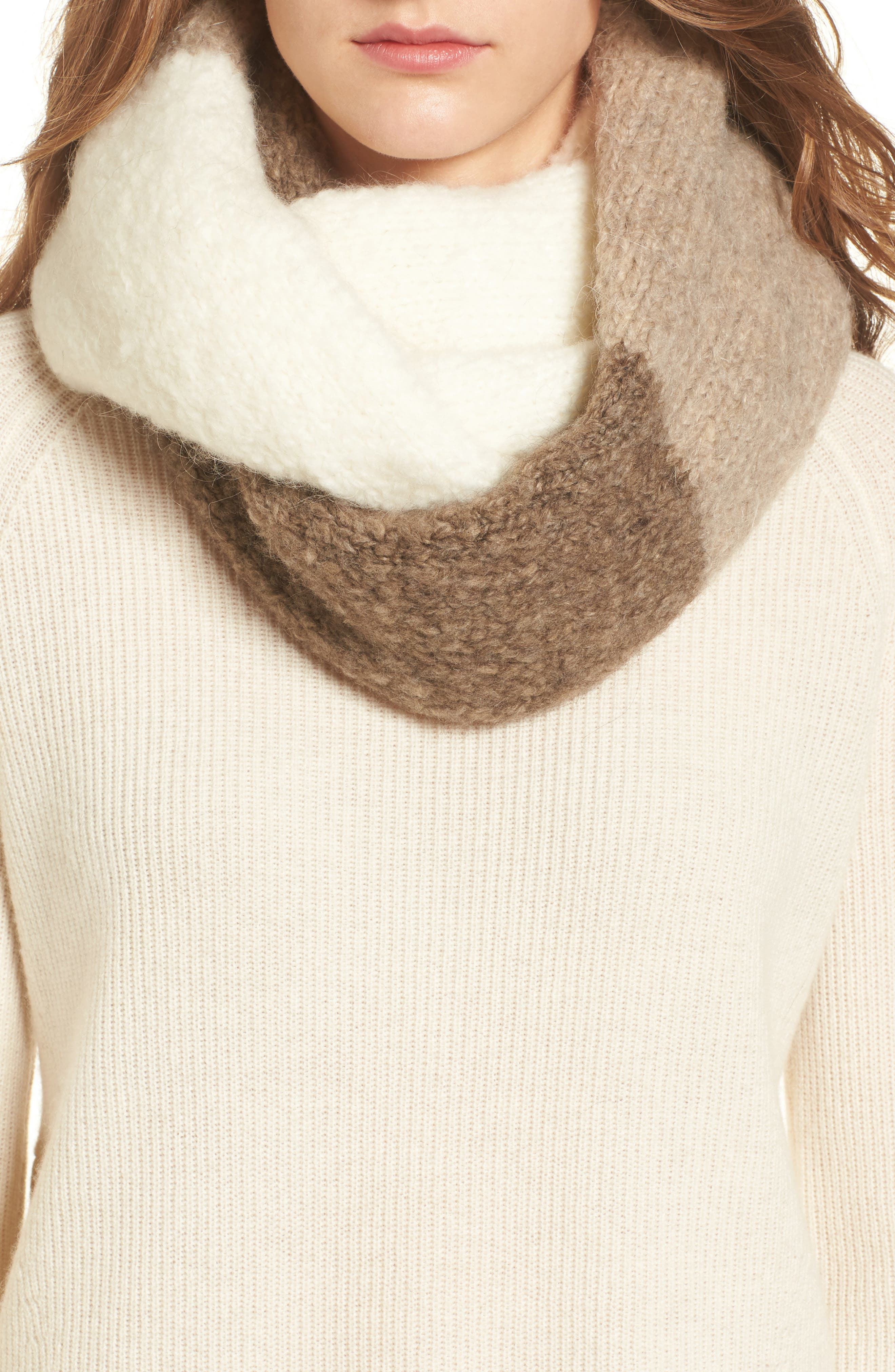 Main Image - UGG® Lofty Tricolor Infinity Scarf