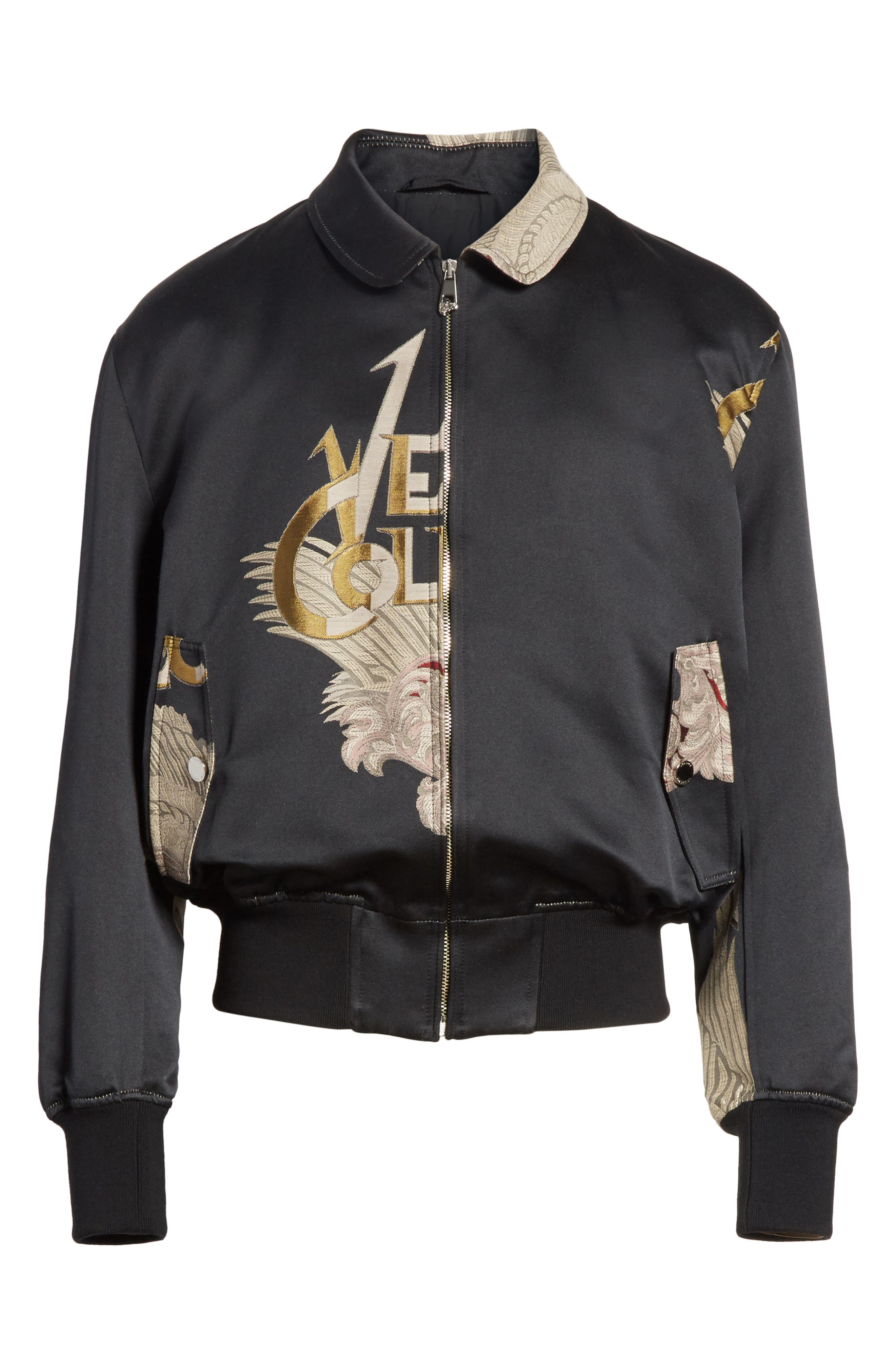 Alternate Image 6  - Versace Collection Embroidered Logo Bomber Jacket