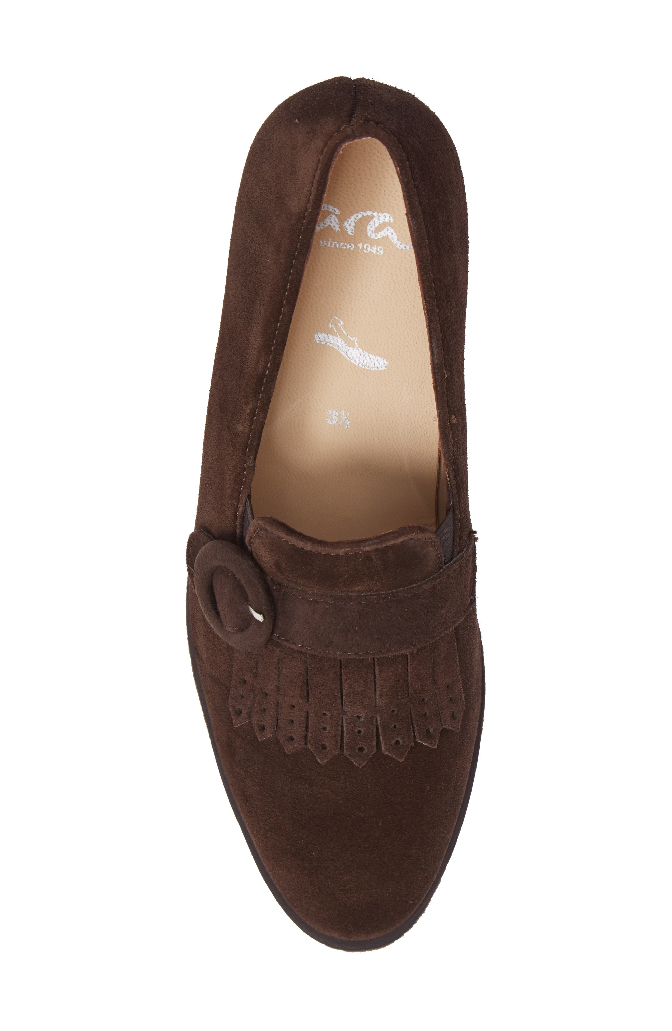 Becky Loafer Pump,                             Alternate thumbnail 5, color,                             Brown Suede