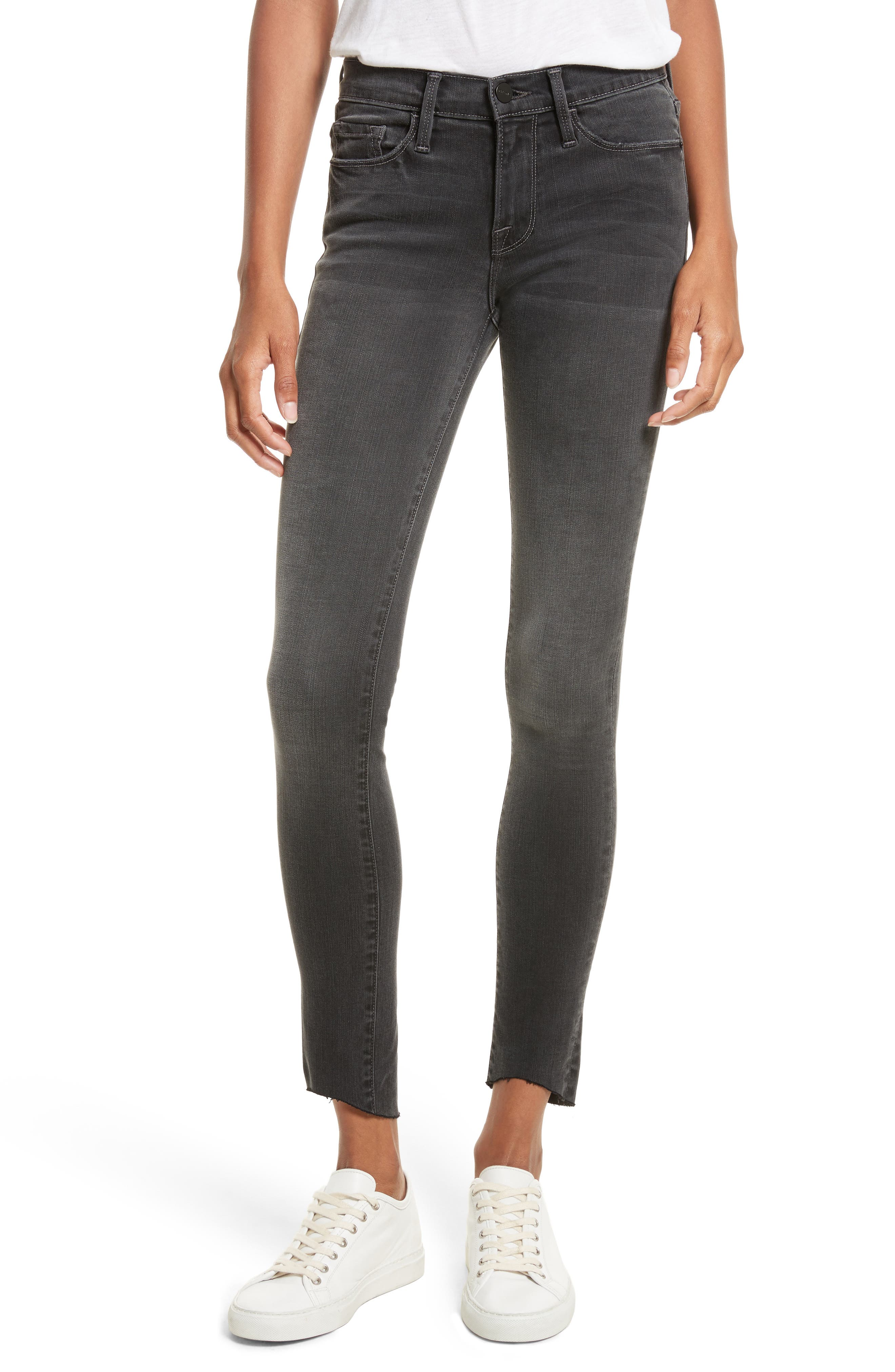 Le Skinny de Jeanne Ankle Jeans,                             Main thumbnail 1, color,                             Harlow