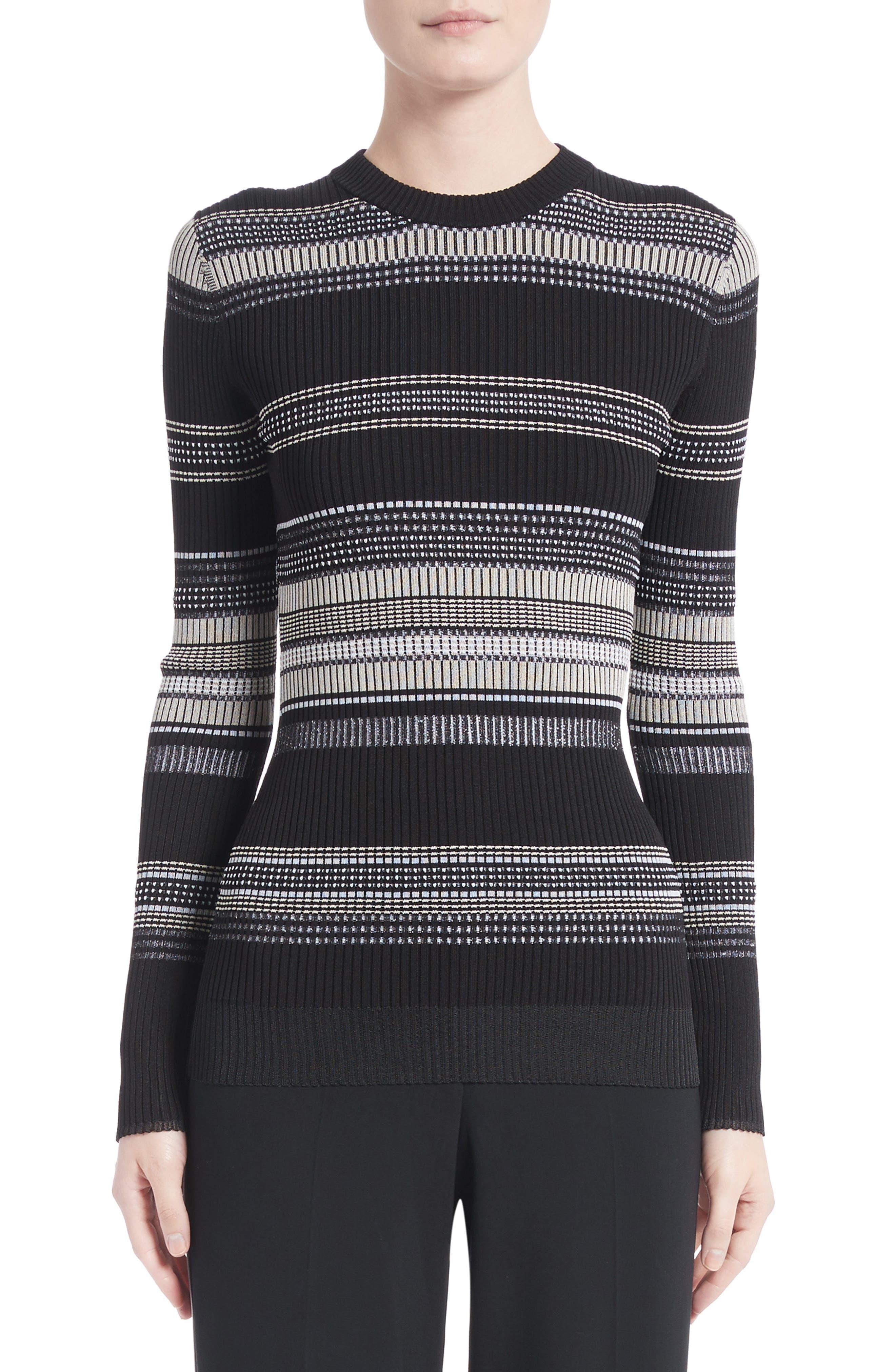 Main Image - Proenza Schouler Stripe Rib Knit Top