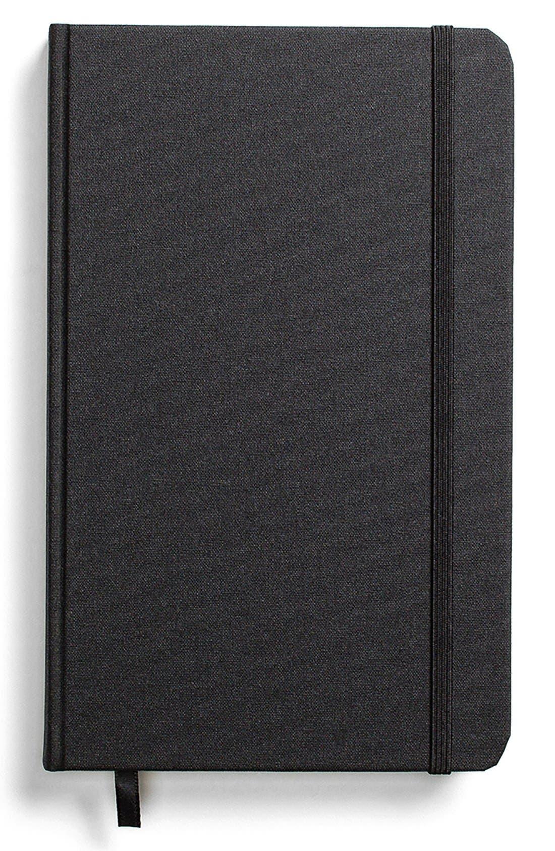 Hardcover Linen Journal,                             Main thumbnail 1, color,                             Black