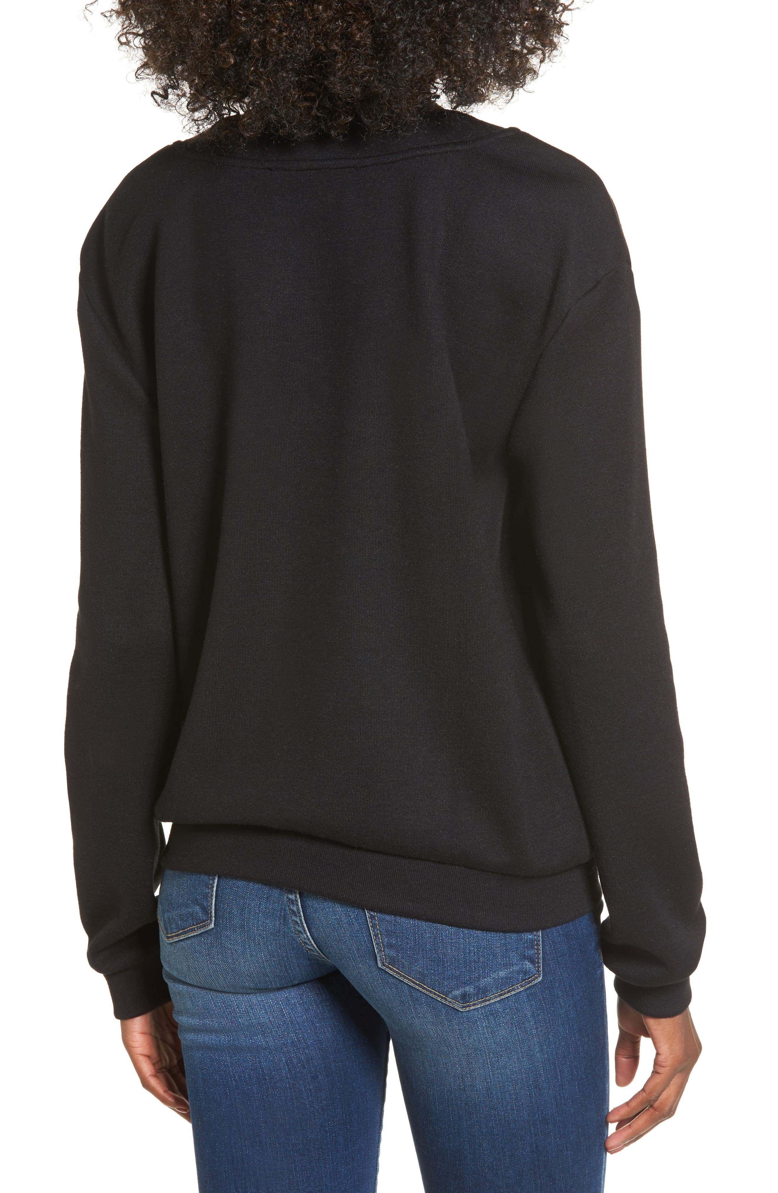 Alternate Image 2  - J.O.A. Lace-Up Sweatshirt