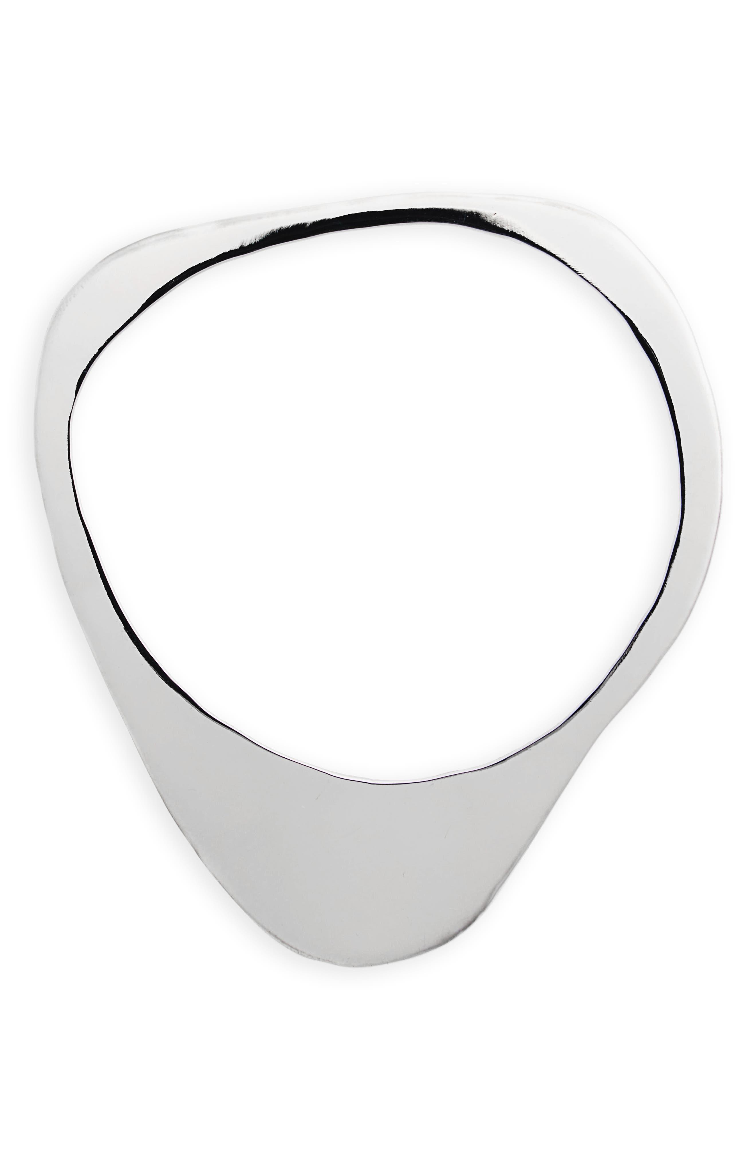 Stone Bangle Bracelet,                         Main,                         color, Sterling Silver