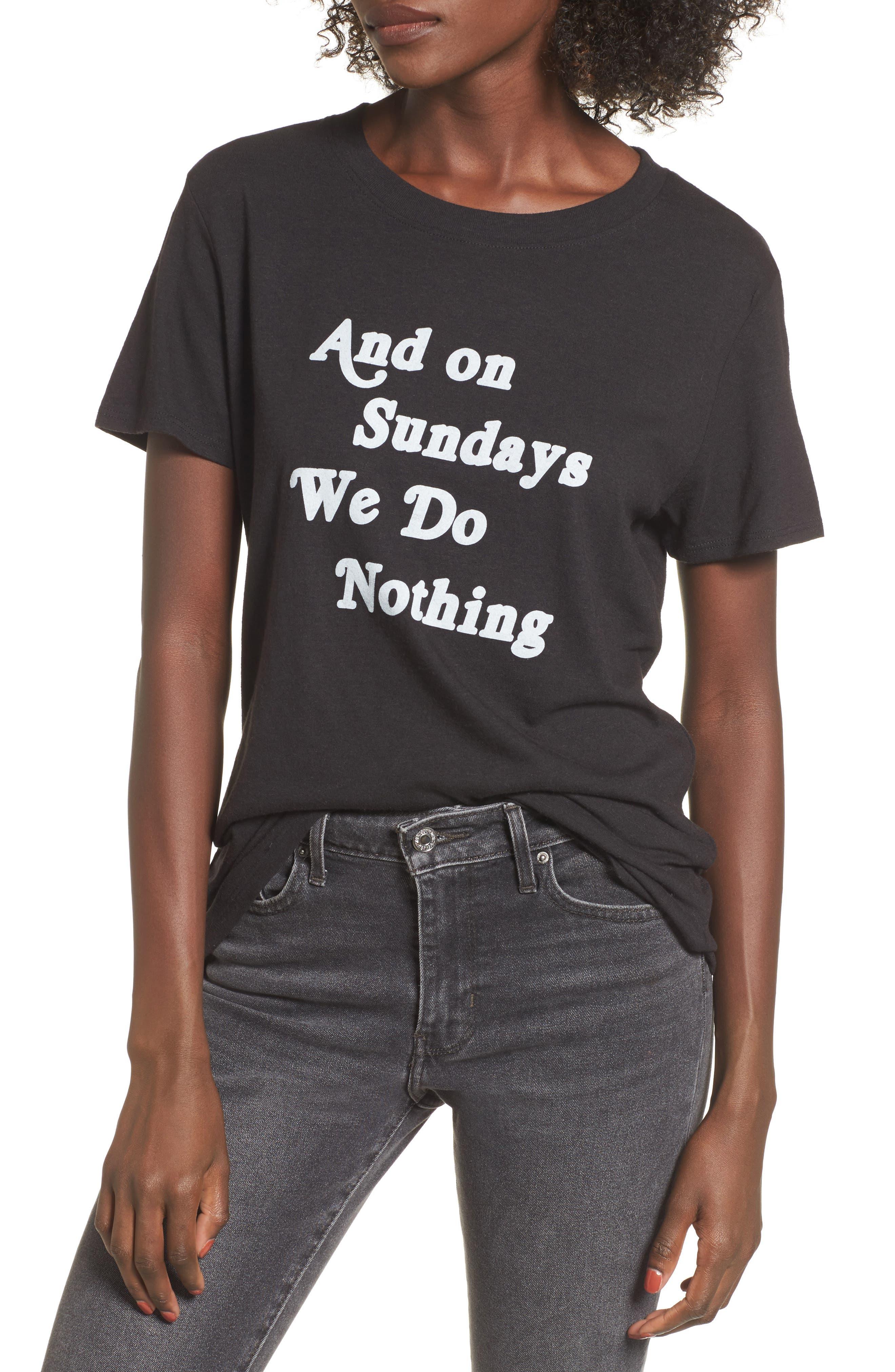 On Sundays Graphic Tee,                         Main,                         color, Black