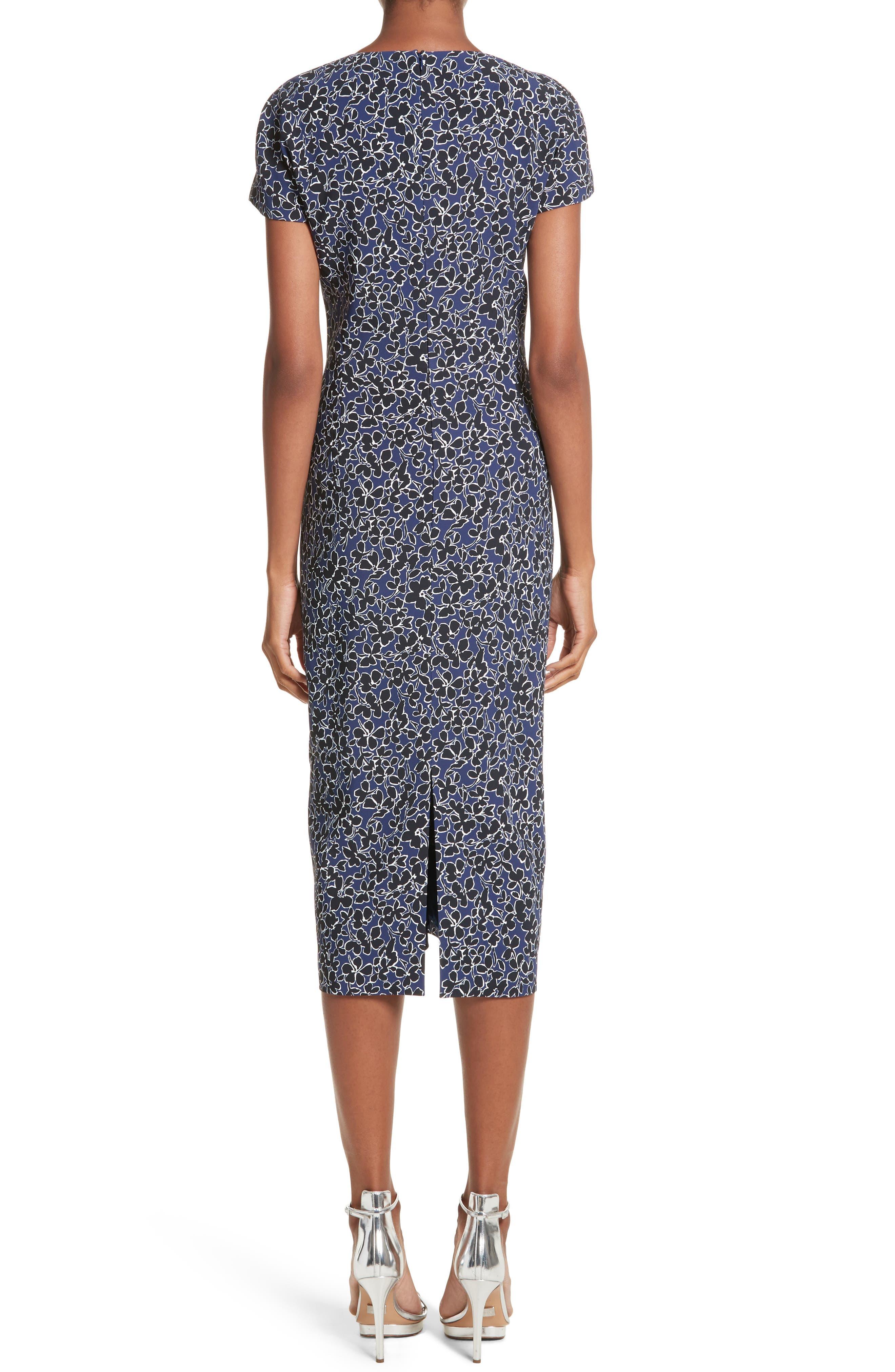 Floral T-Shirt Sheath Dress,                             Alternate thumbnail 2, color,                             Sapphire