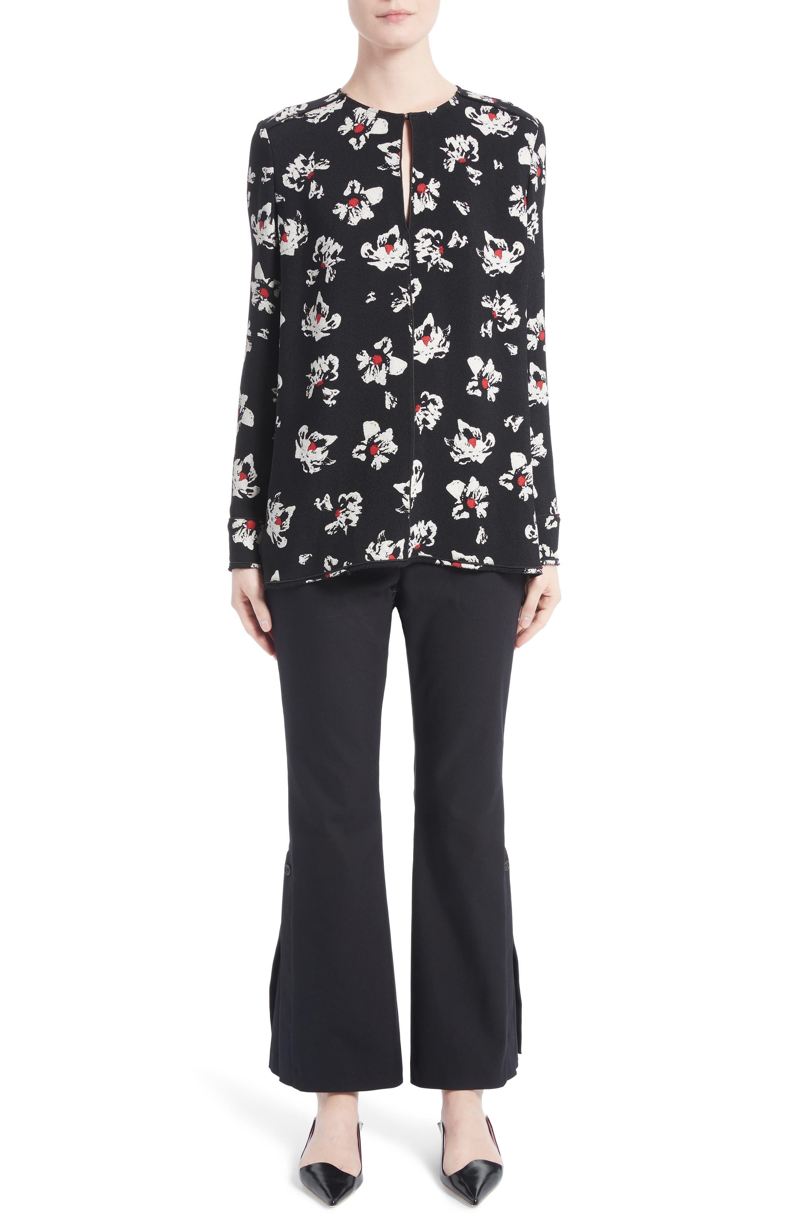 Alternate Image 9  - Proenza Schouler Stretch Cotton Blend Flare Pants