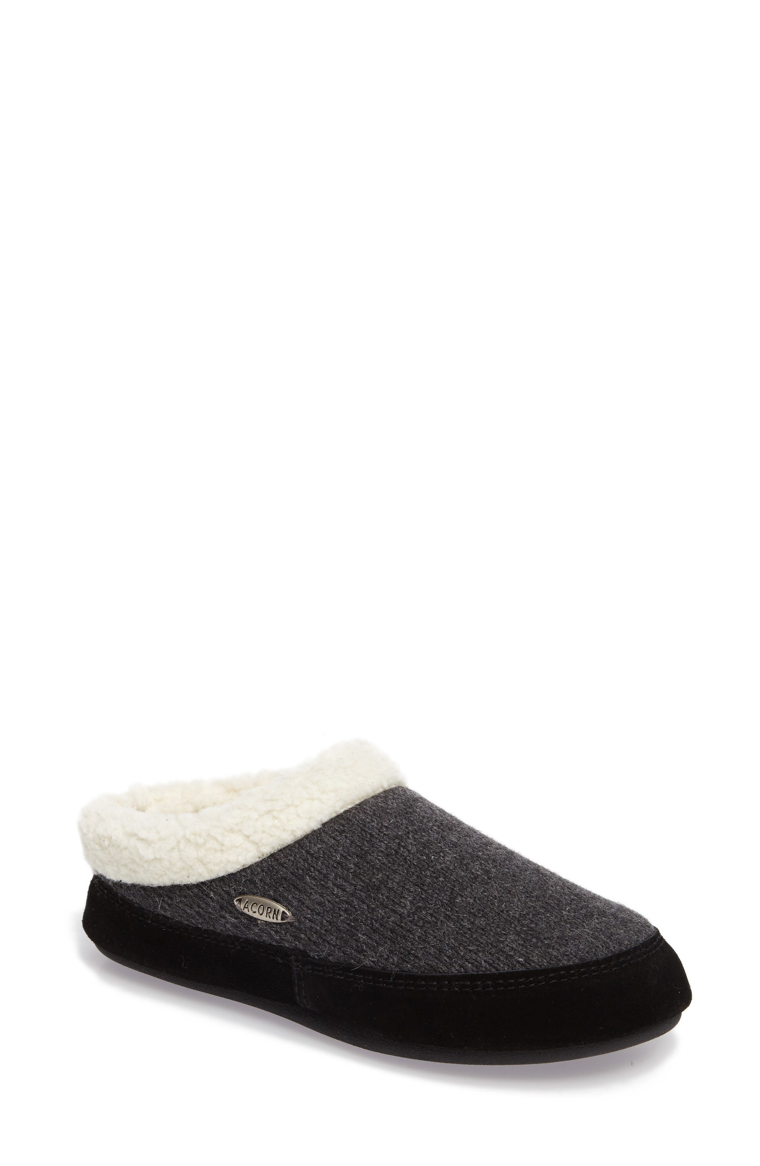 ACORN Ragg Mule Slipper in Dark Charcoal Heather
