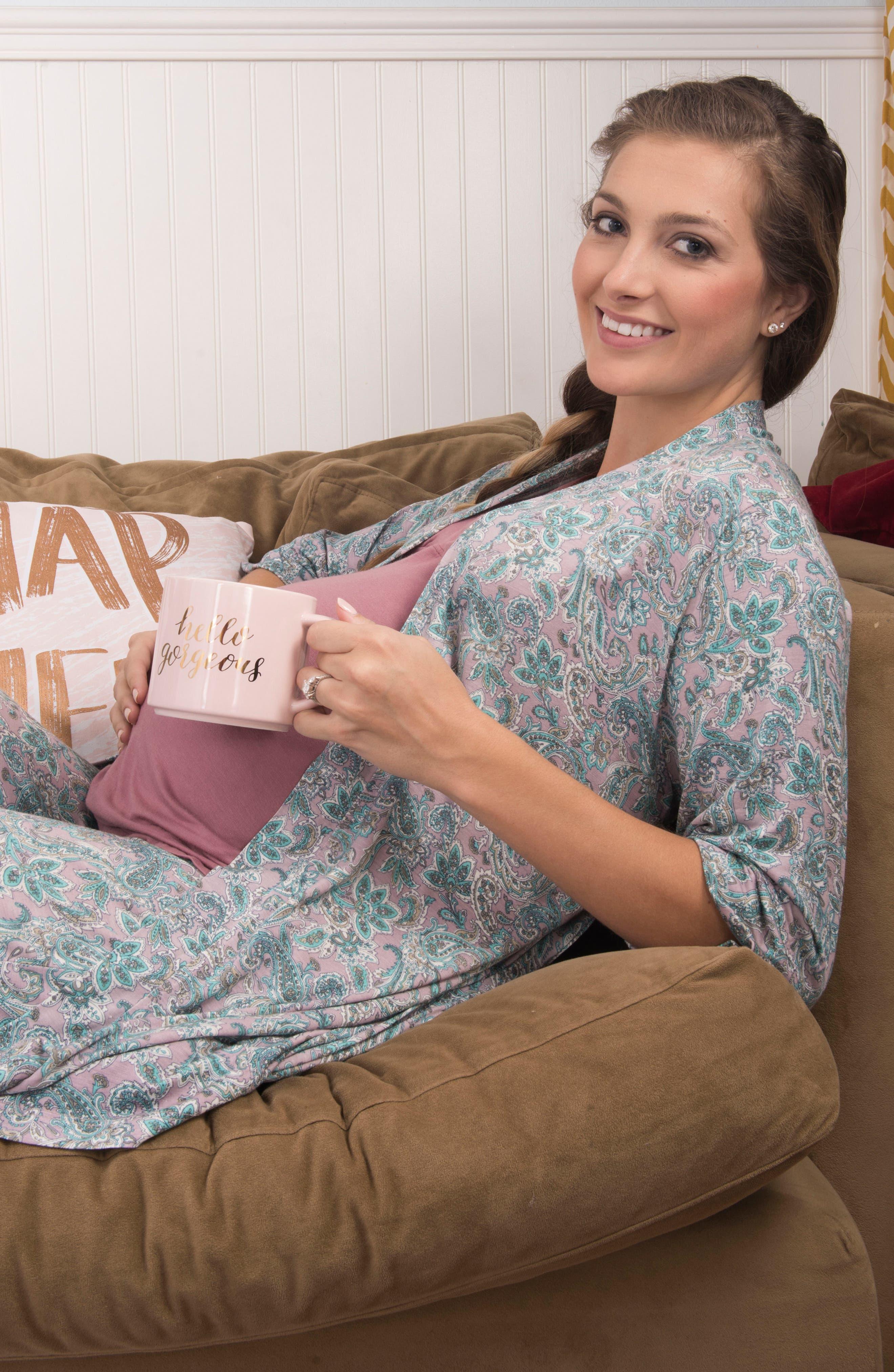 Alternate Image 7  - Everly Grey Susan 5-Piece Maternity/Nursing Pajama Set