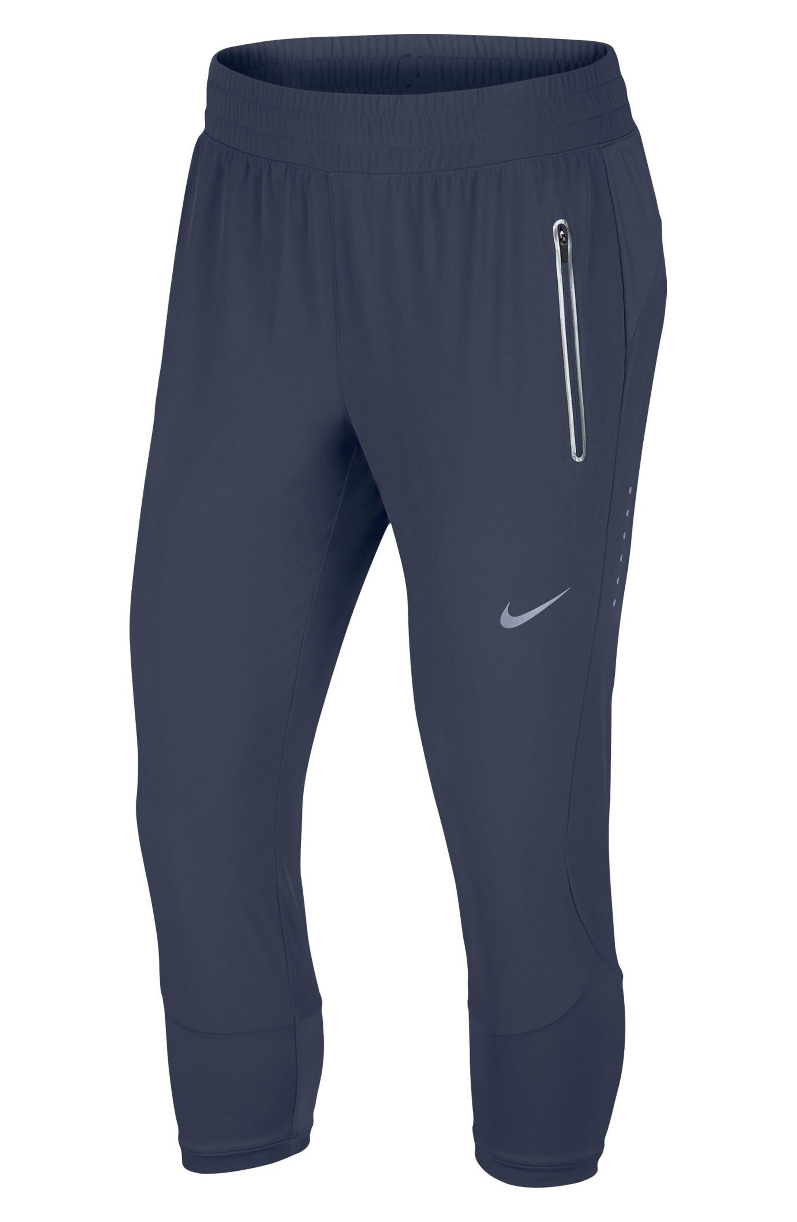 Women's Flex Swift Running Crop Pants,                         Main,                         color, Thunder Blue