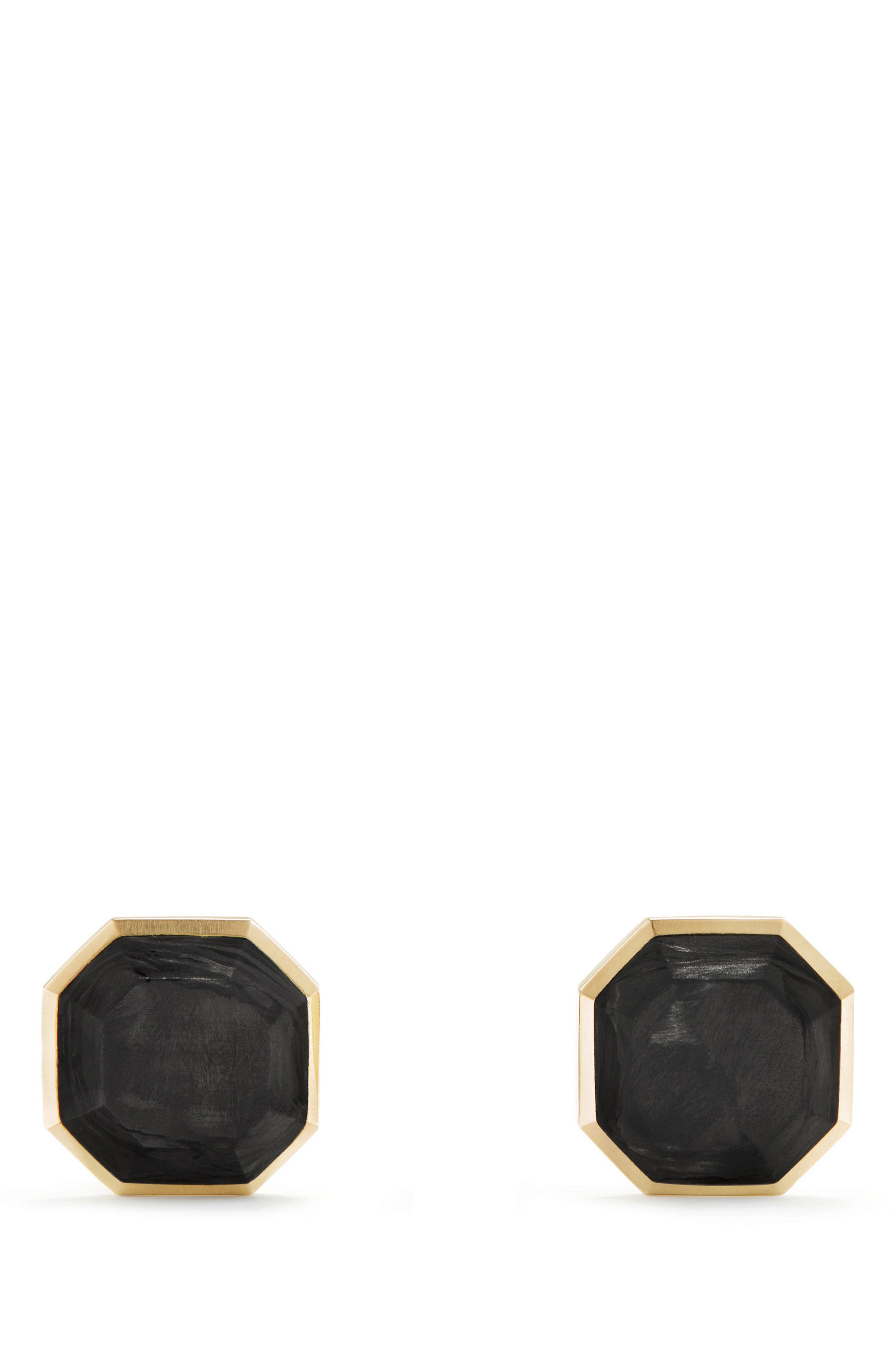 Forged Carbon Cufflinks in 18K Gold,                         Main,                         color, Forged Carbon