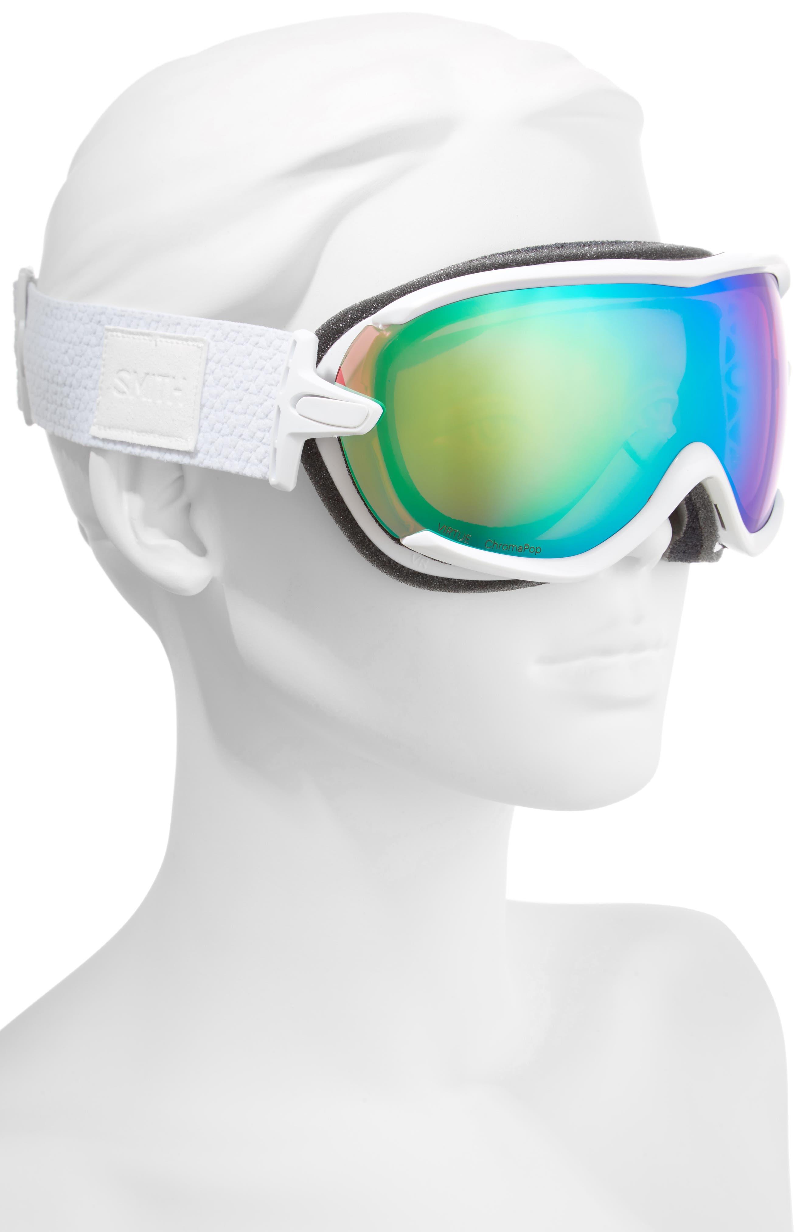 Virtue Ski/Snow Goggles,                             Alternate thumbnail 3, color,                             White Mosaic/ Mirror