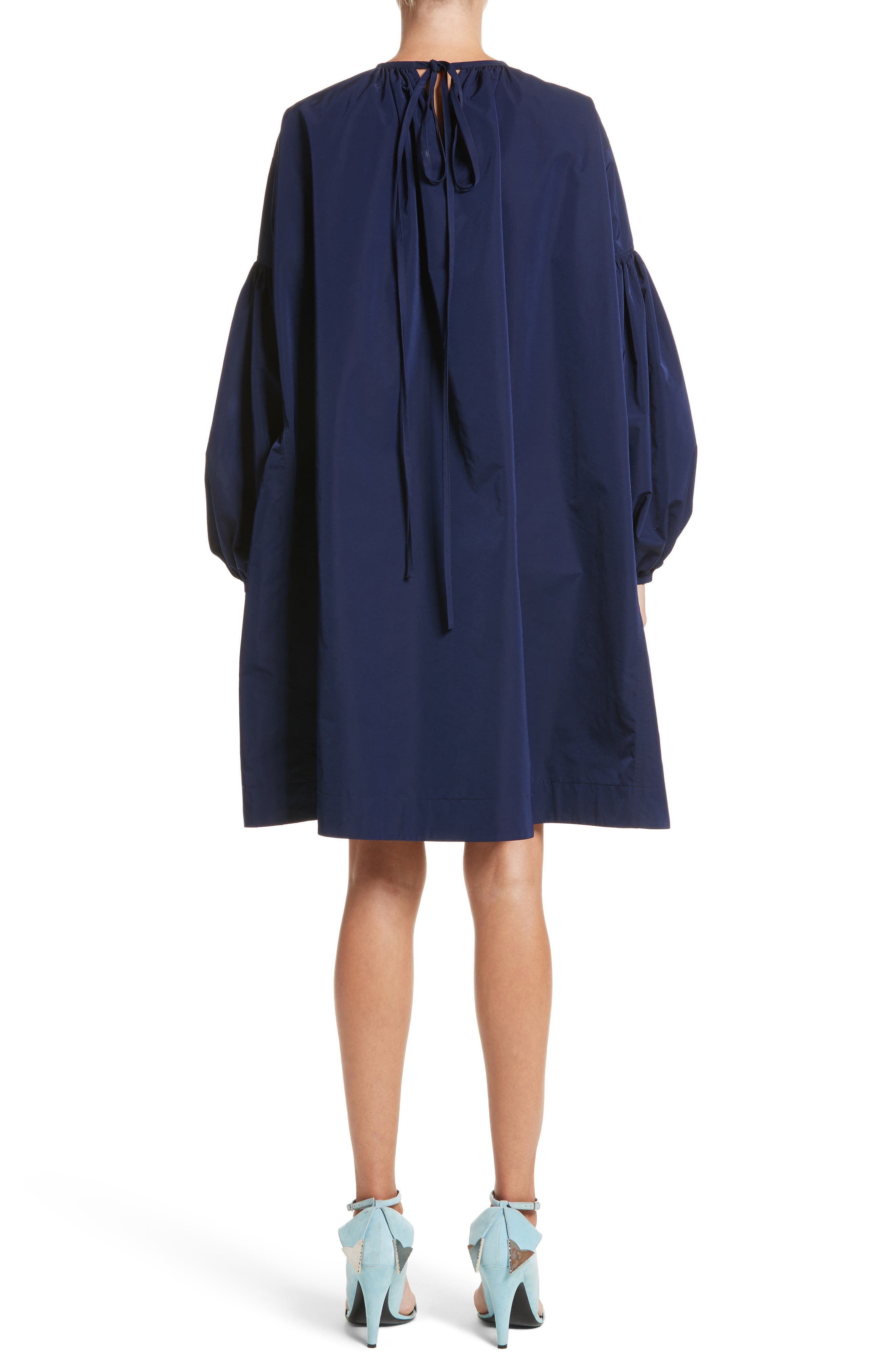 Alternate Image 2  - Calvin Klein 205W39NYC Ruched Sleeve Taffeta Dress