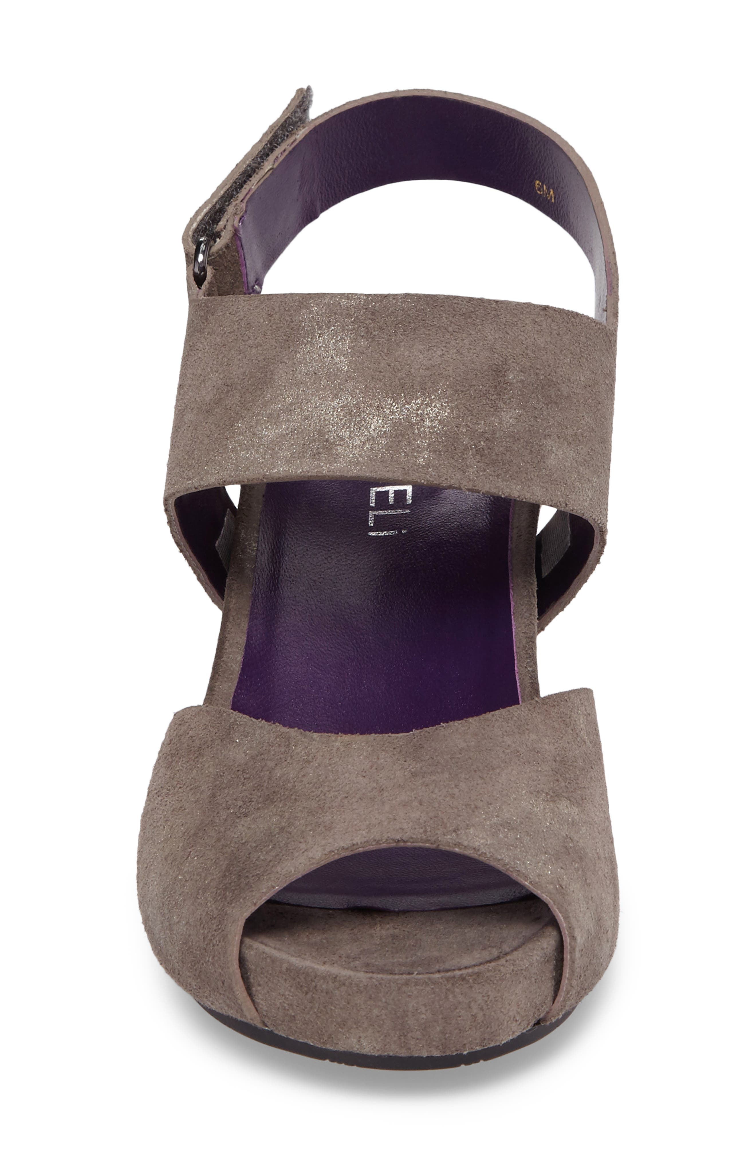 Ilex Wedge Sandal,                             Alternate thumbnail 4, color,                             Taupe Suede