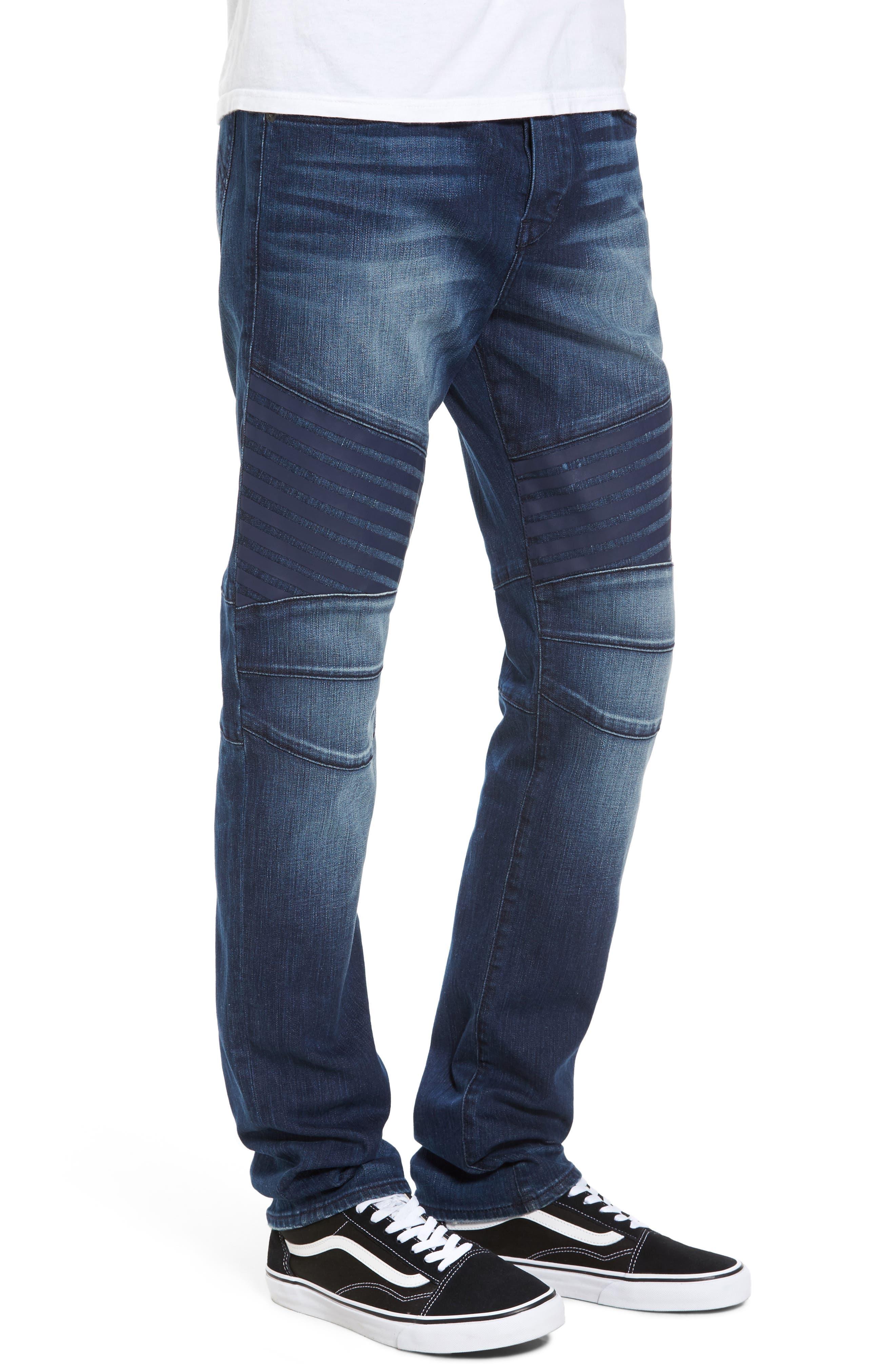 Alternate Image 3  - True Religion Brand Jeans Rocco Biker Skinny Fit Jeans (Rebel Race)