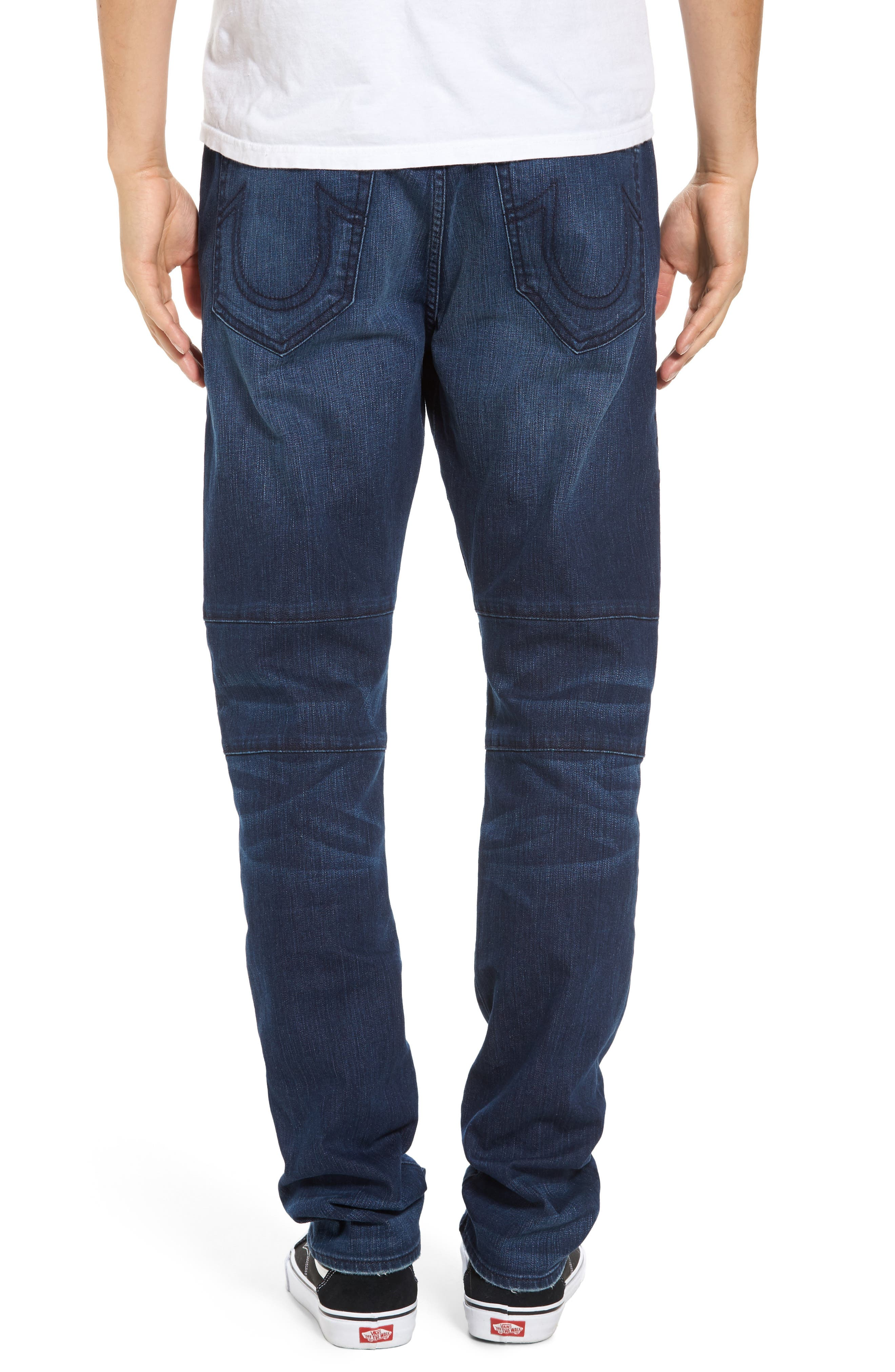 Alternate Image 2  - True Religion Brand Jeans Rocco Biker Skinny Fit Jeans (Rebel Race)