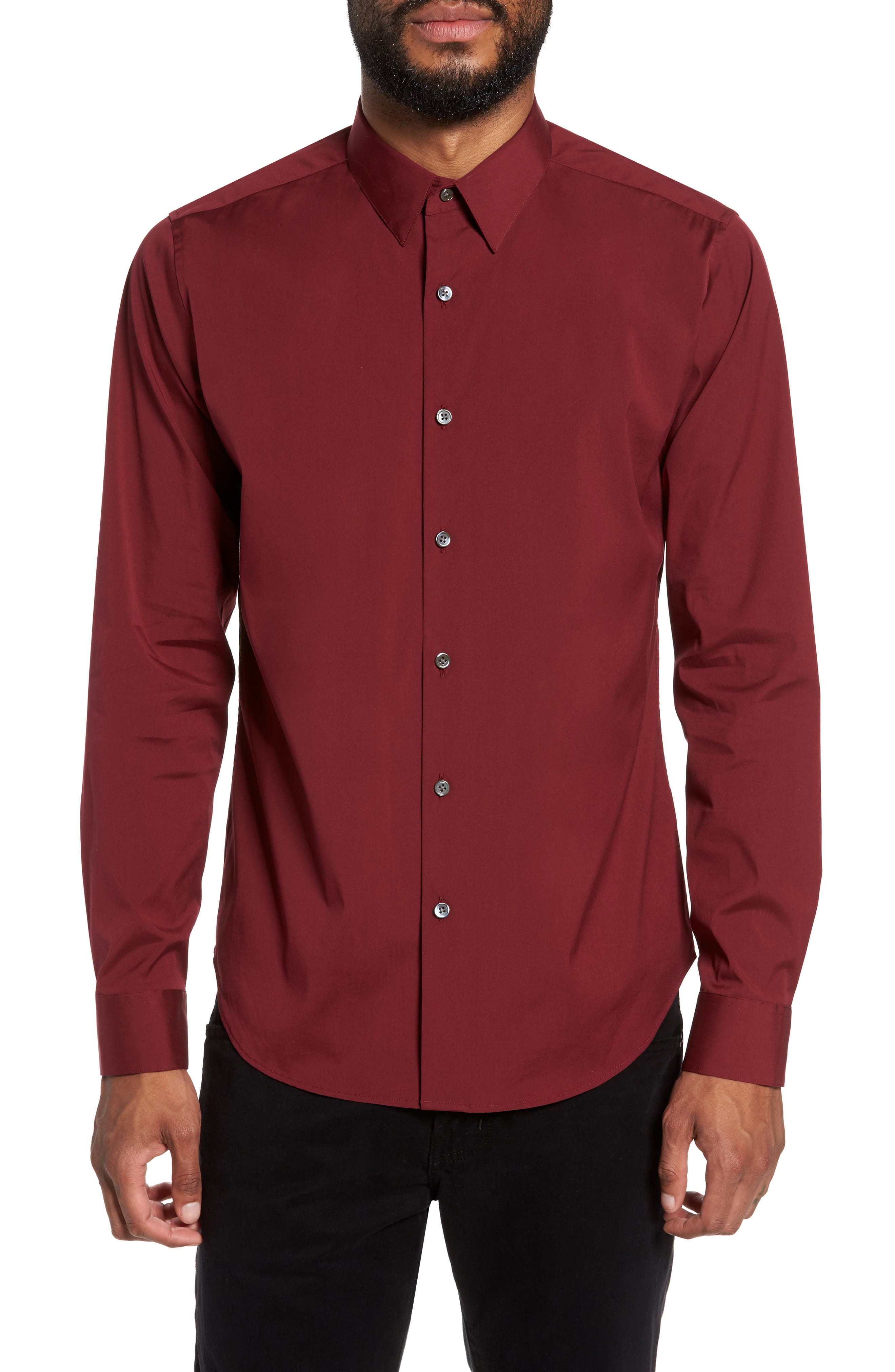 Alternate Image 1 Selected - Theory 'Sylvain' Trim Fit Long Sleeve Sport Shirt