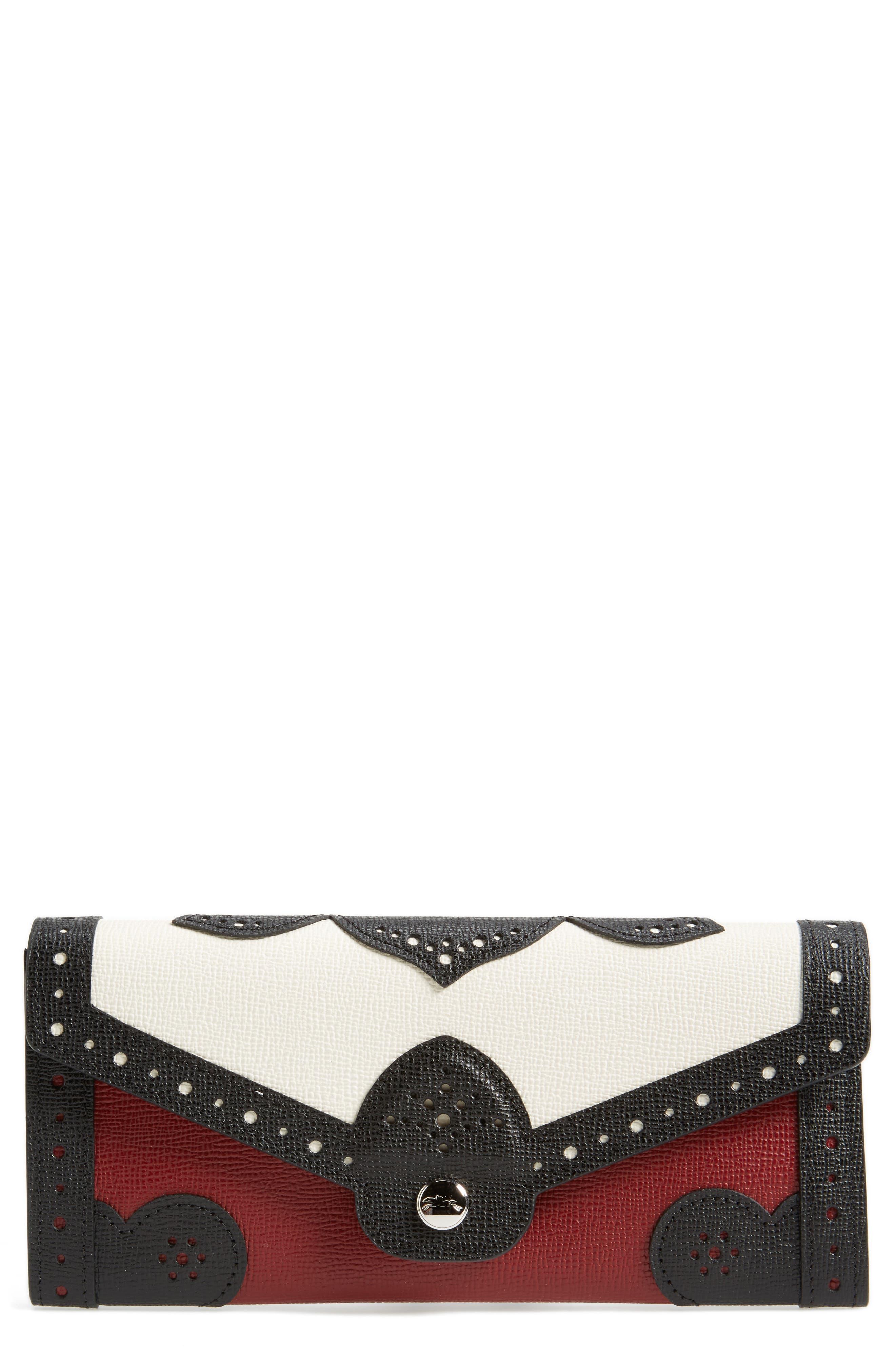 Effrontée Leather Wallet,                         Main,                         color, Red Lacquer