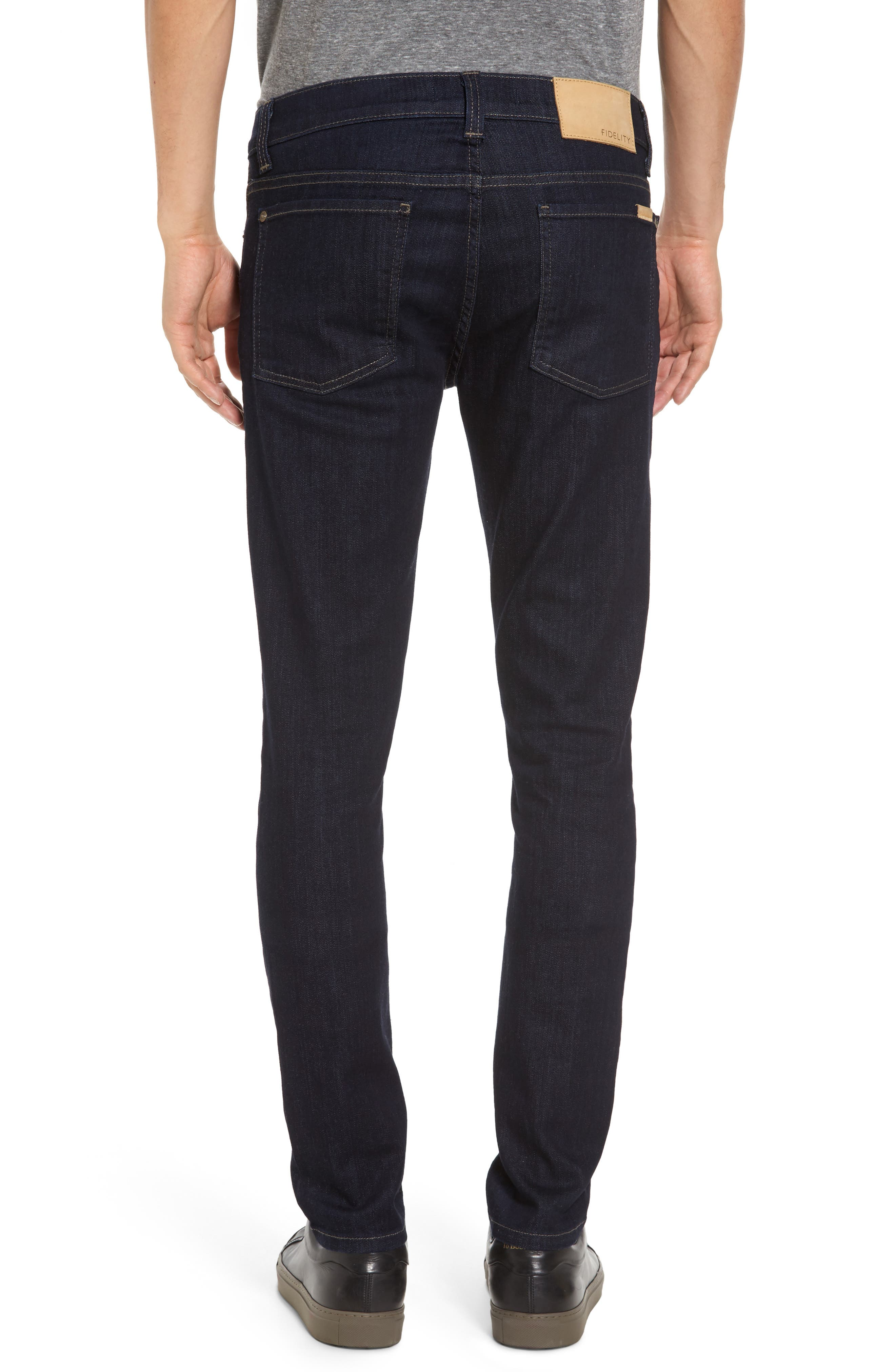 Alternate Image 2  - Fidelity Denim Vantage Skinny Fit Jeans (Galaxy Rinse)