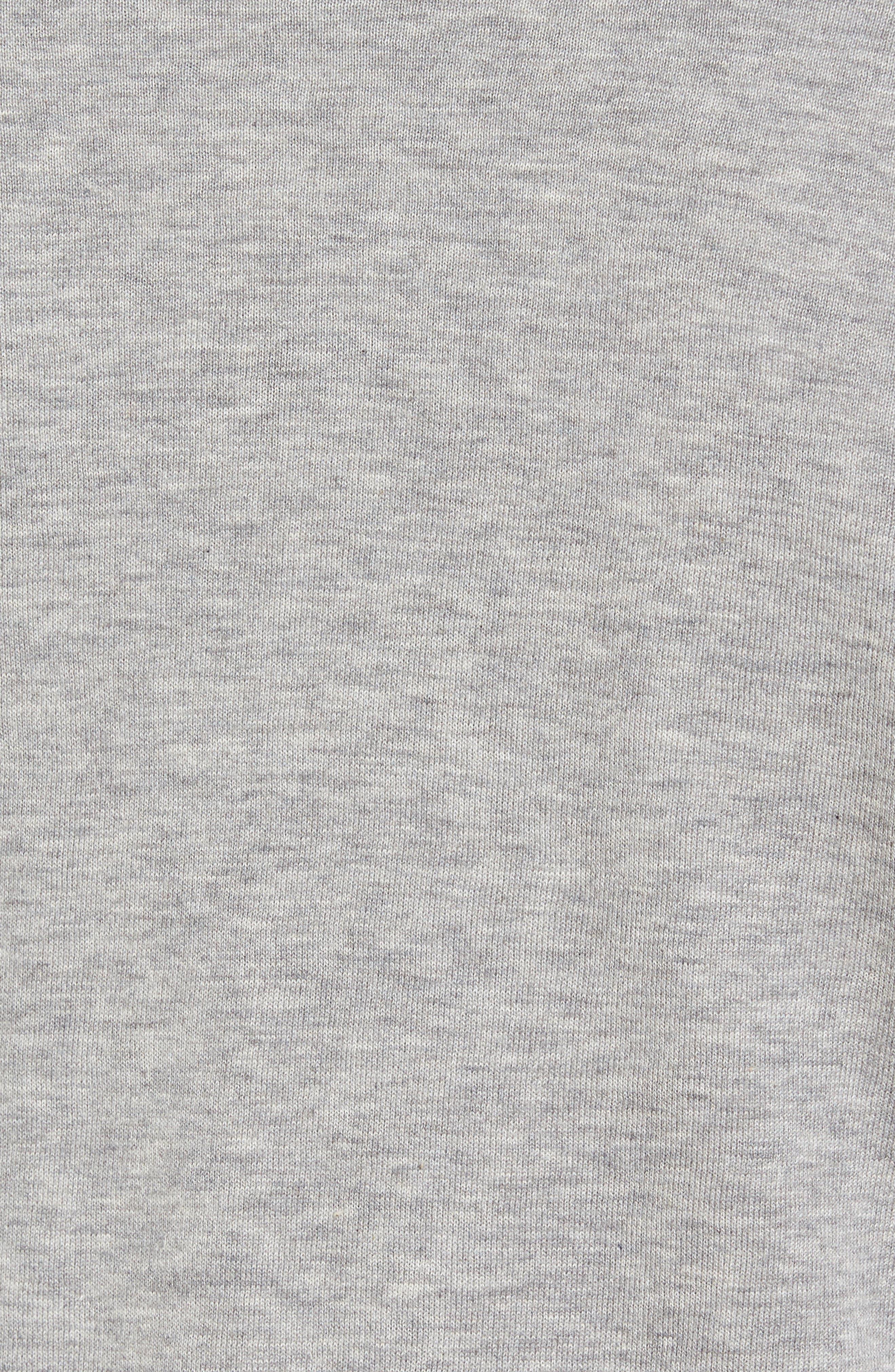 Alternate Image 5  - James Perse Mock Neck Zip Sweatshirt