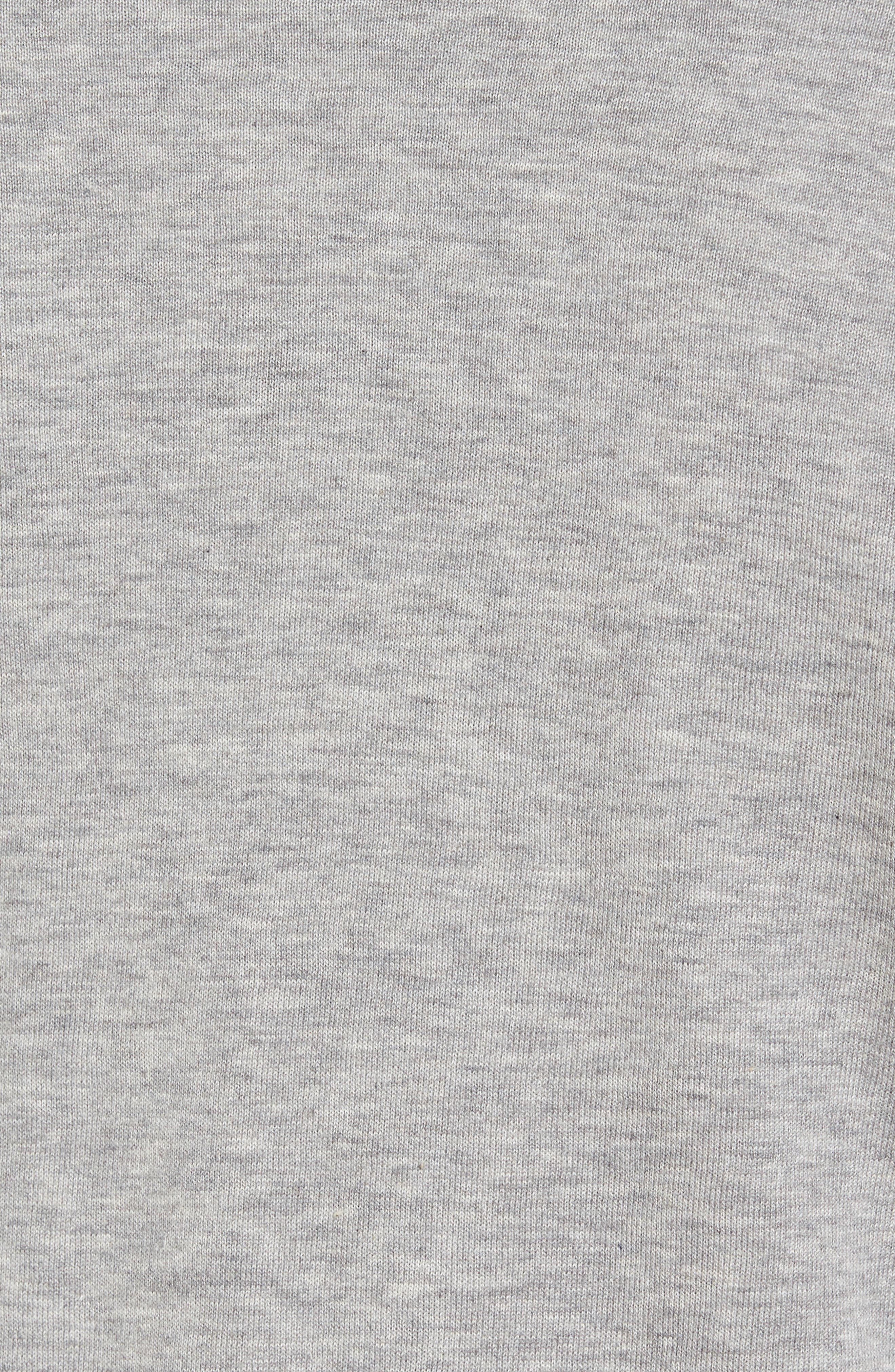 Mock Neck Zip Sweatshirt,                             Alternate thumbnail 5, color,                             Heather Grey/ Platinum