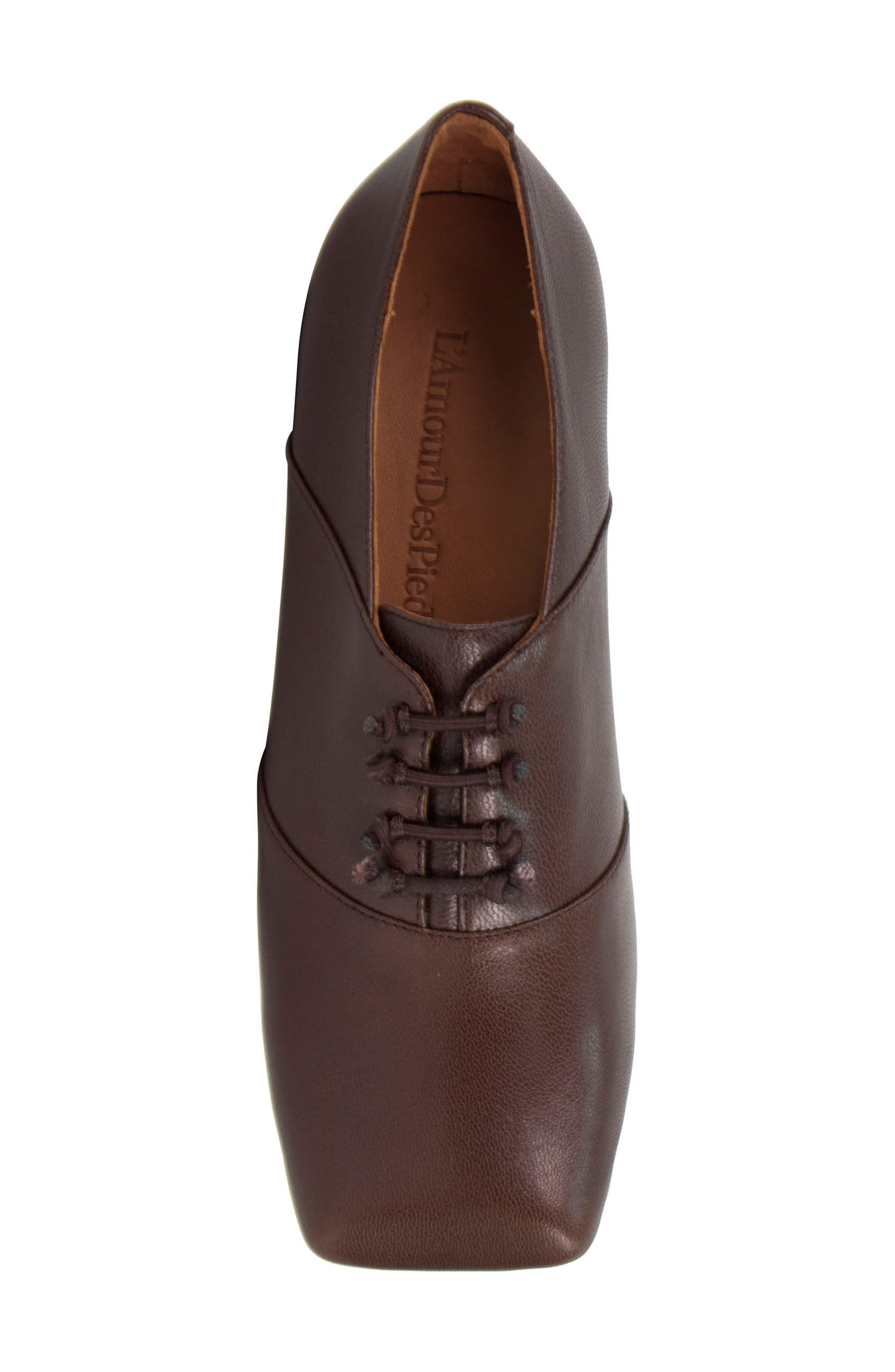 Winifred Lace-Up Bootie,                             Alternate thumbnail 5, color,                             Moro Leather