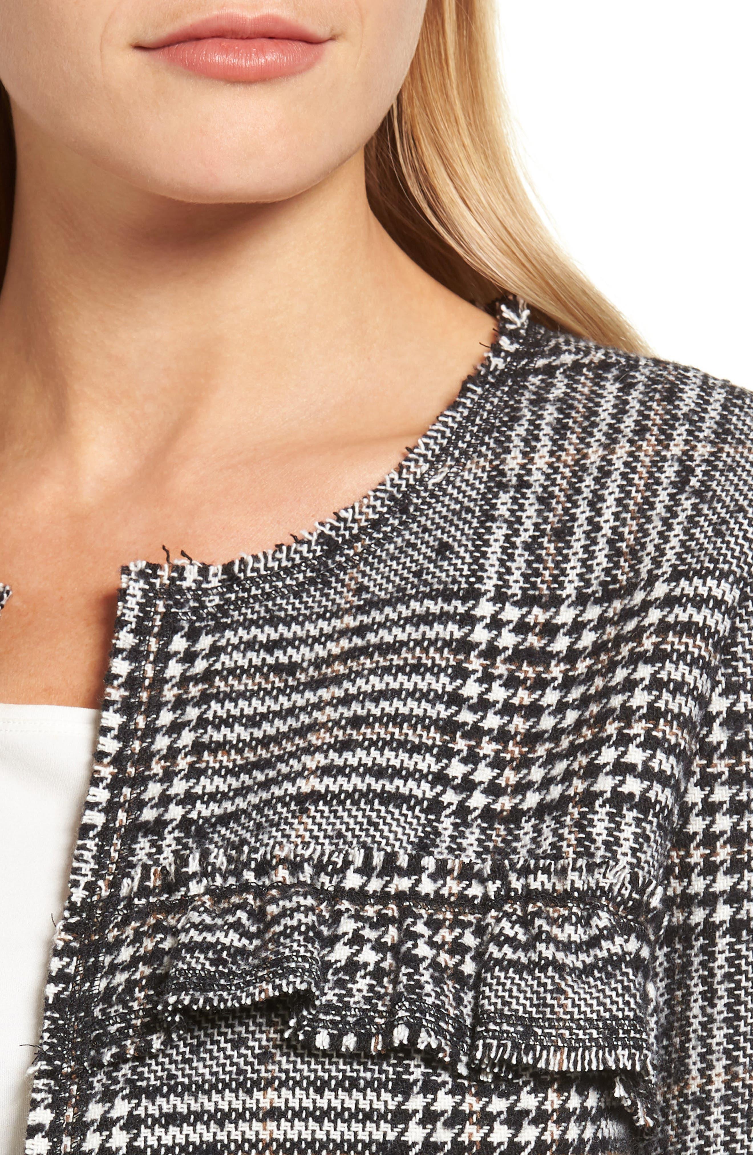Alternate Image 4  - Pleione Ruffle Plaid Jacket