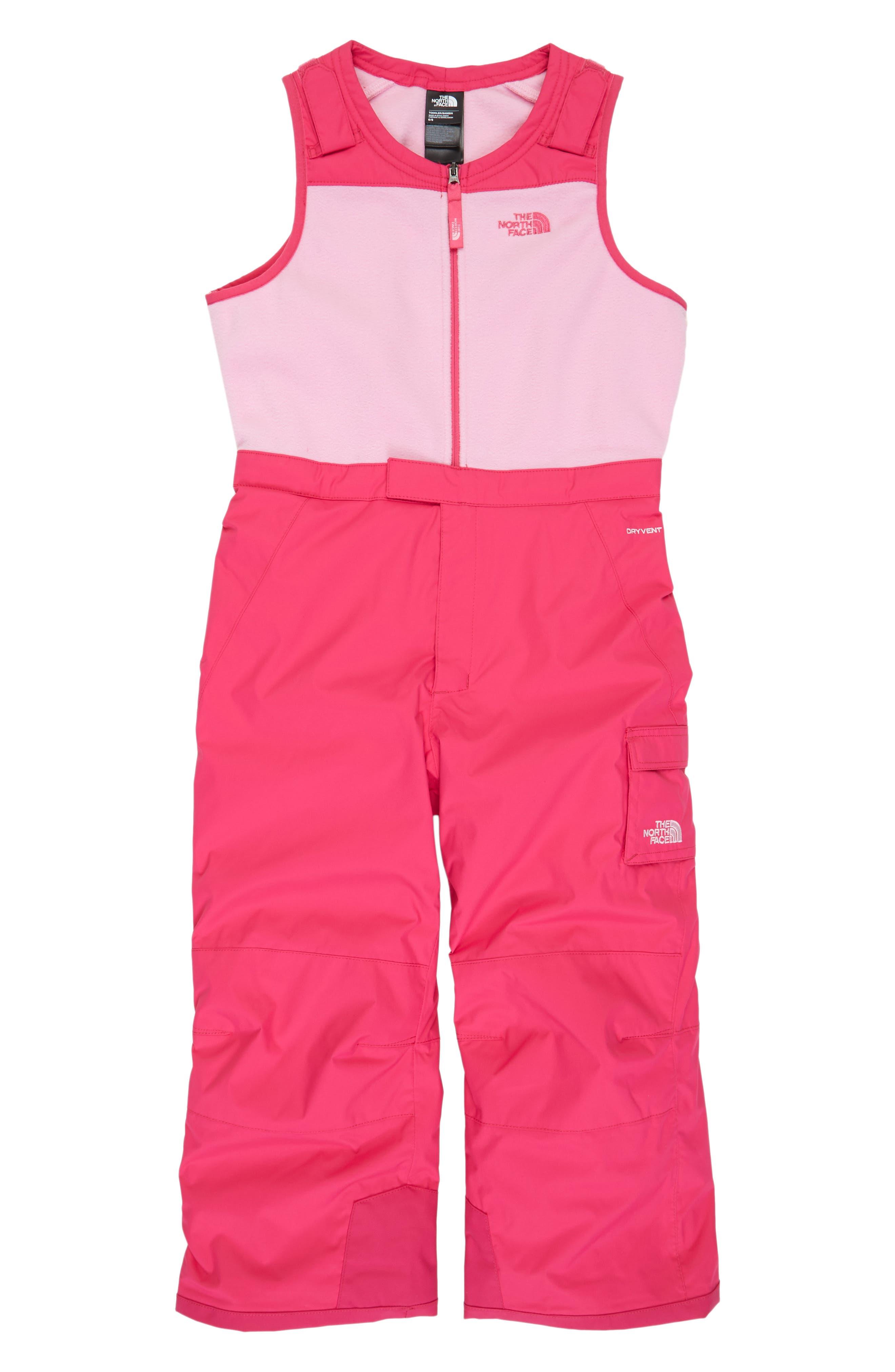 Main Image - The North Face Heatseeker™ Insulated Waterproof Bib Snowsuit (Toddler Girls & Little Girls)