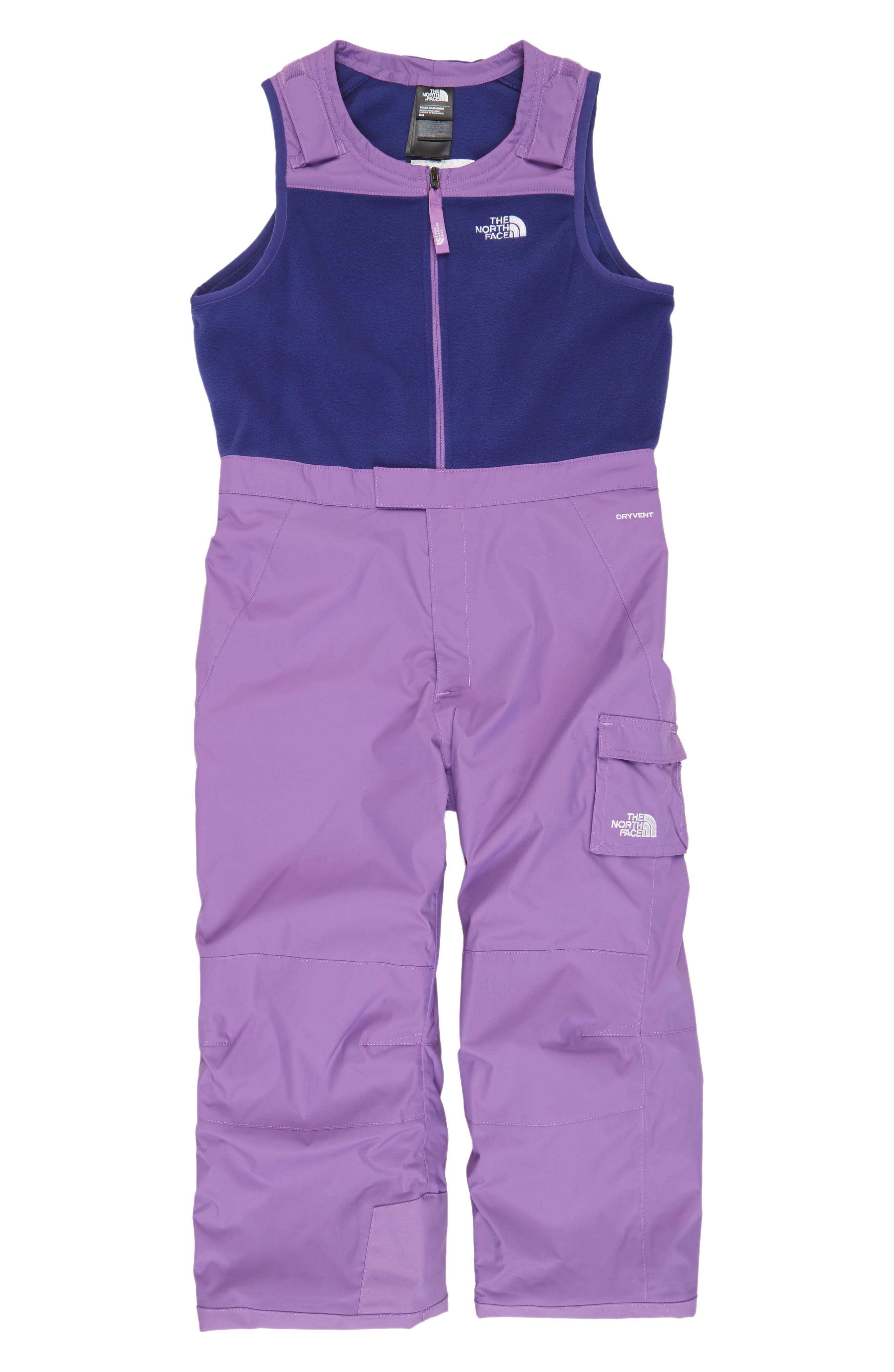 The North Face Heatseeker™ Insulated Waterproof Bib Snowsuit (Toddler Girls & Little Girls)