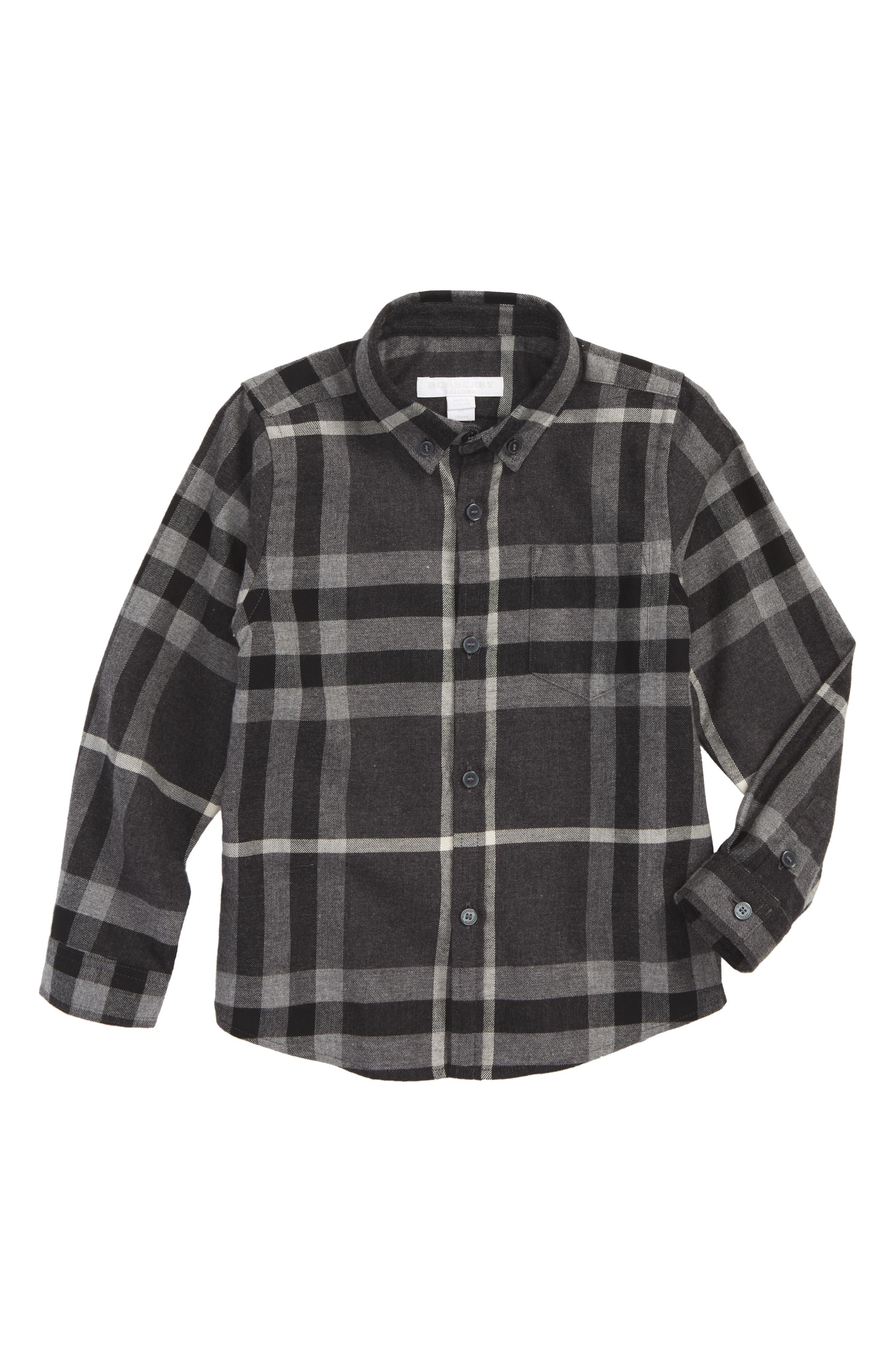 Alternate Image 1 Selected - Burberry Mini Fred Plaid Shirt (Little Boys & Big Boys)