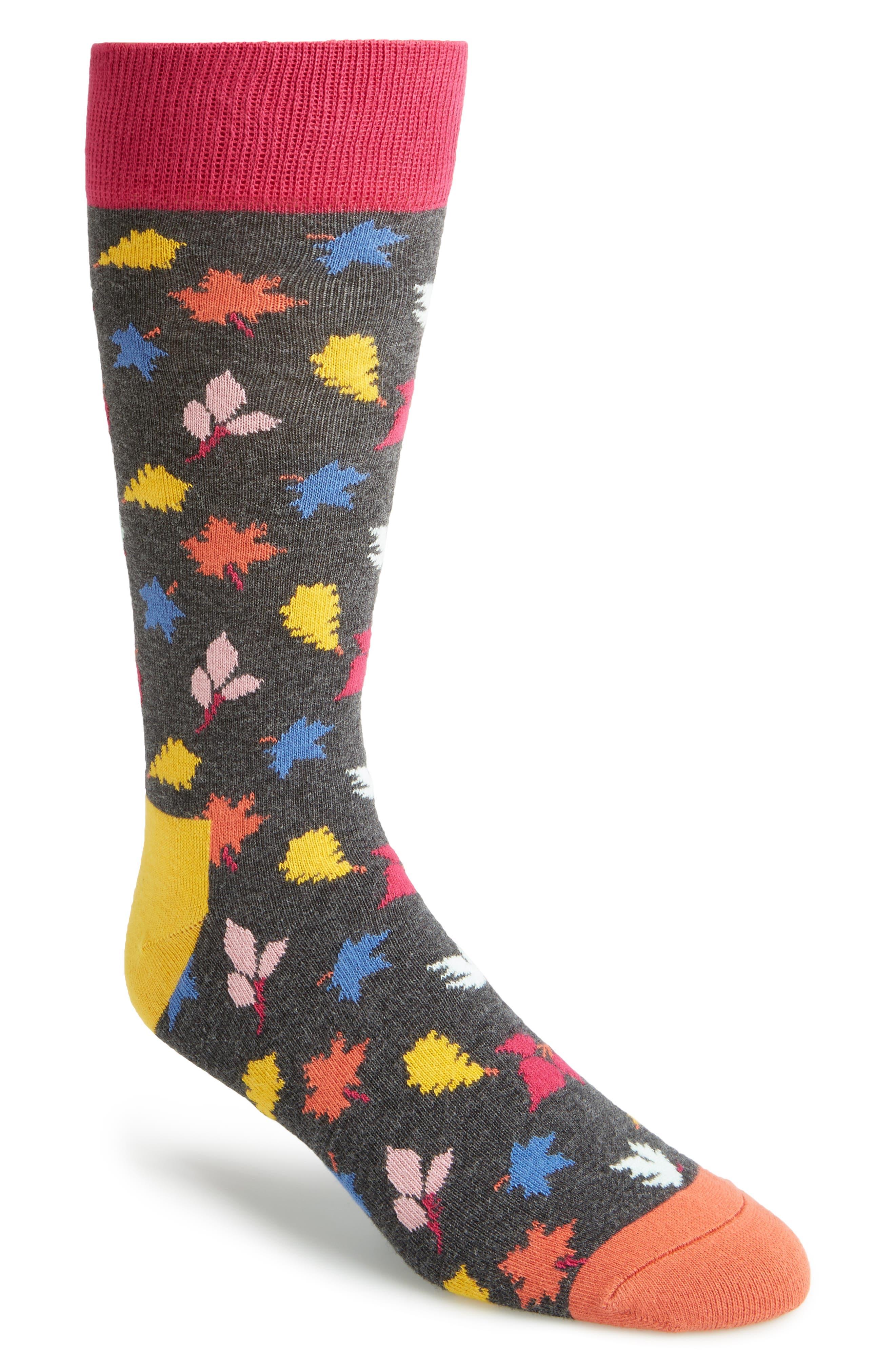 Alternate Image 1 Selected - Happy Socks Leaf Socks (3 for $30)