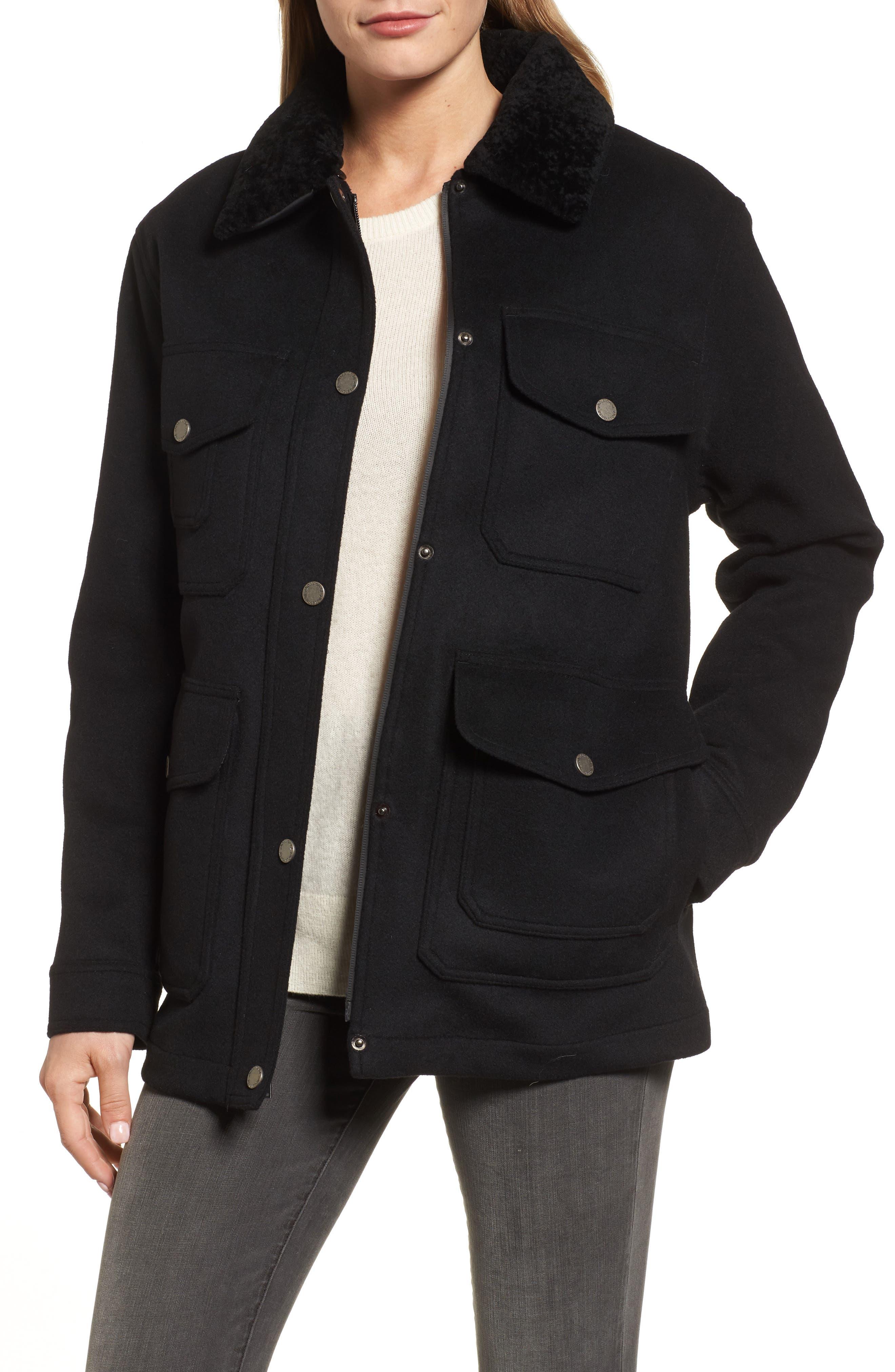 Manchester Waterproof Field Coat,                             Main thumbnail 1, color,                             Black