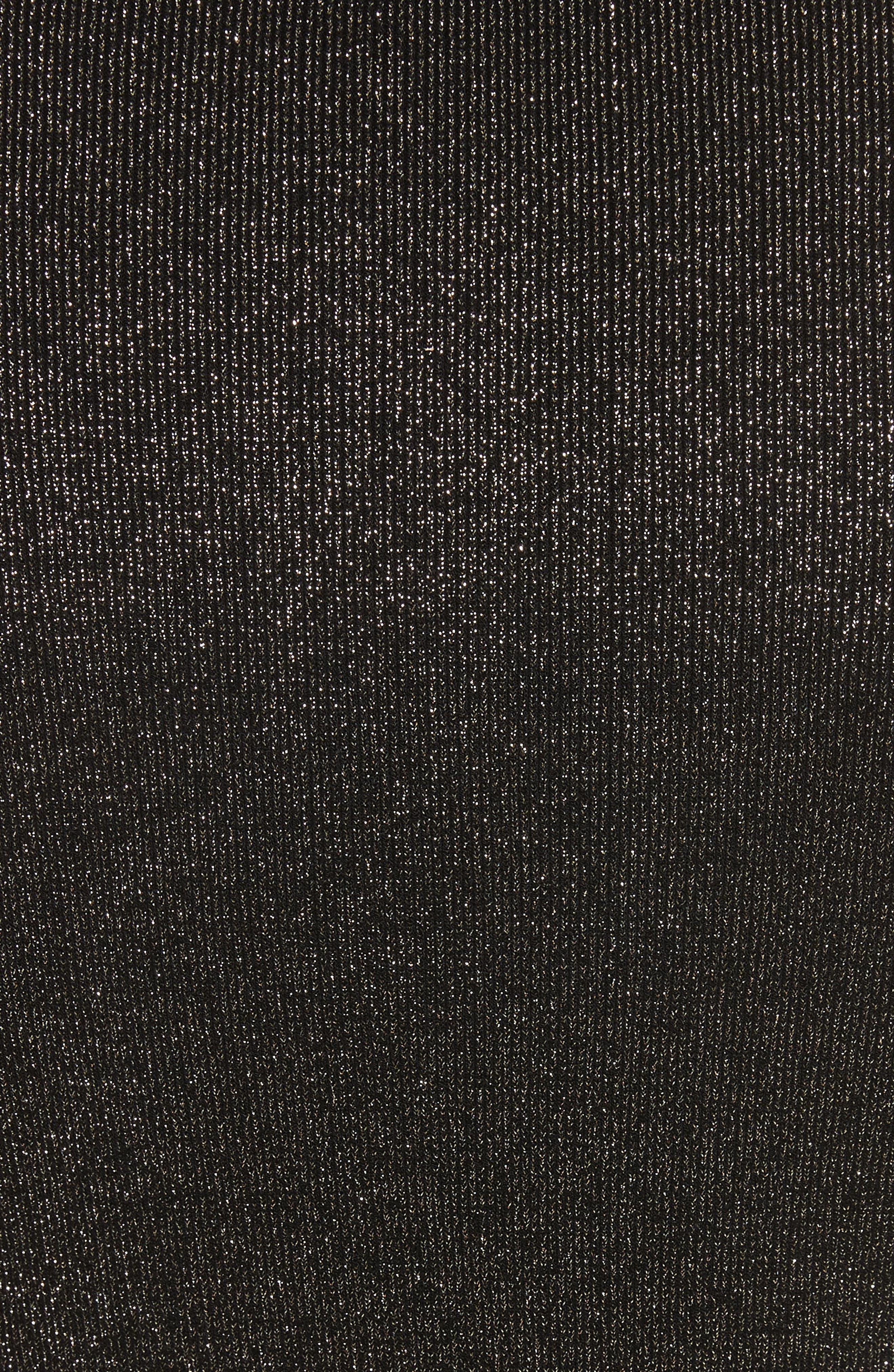 Camden Cutout Sweater,                             Alternate thumbnail 5, color,                             Black/ Gold