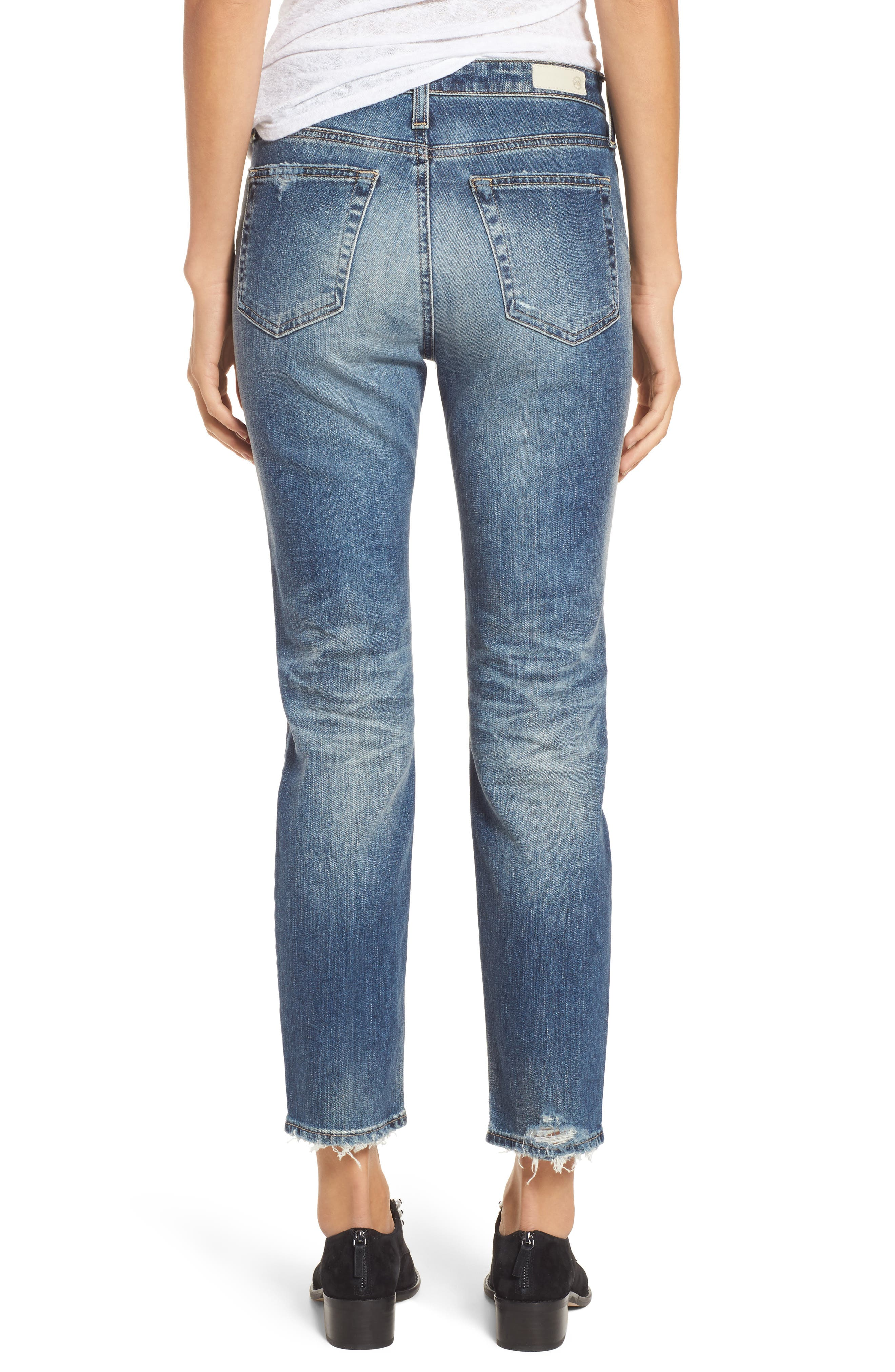 The Isabelle High Waist Crop Straight Leg Jeans,                             Alternate thumbnail 3, color,                             17 Years Free Spirit