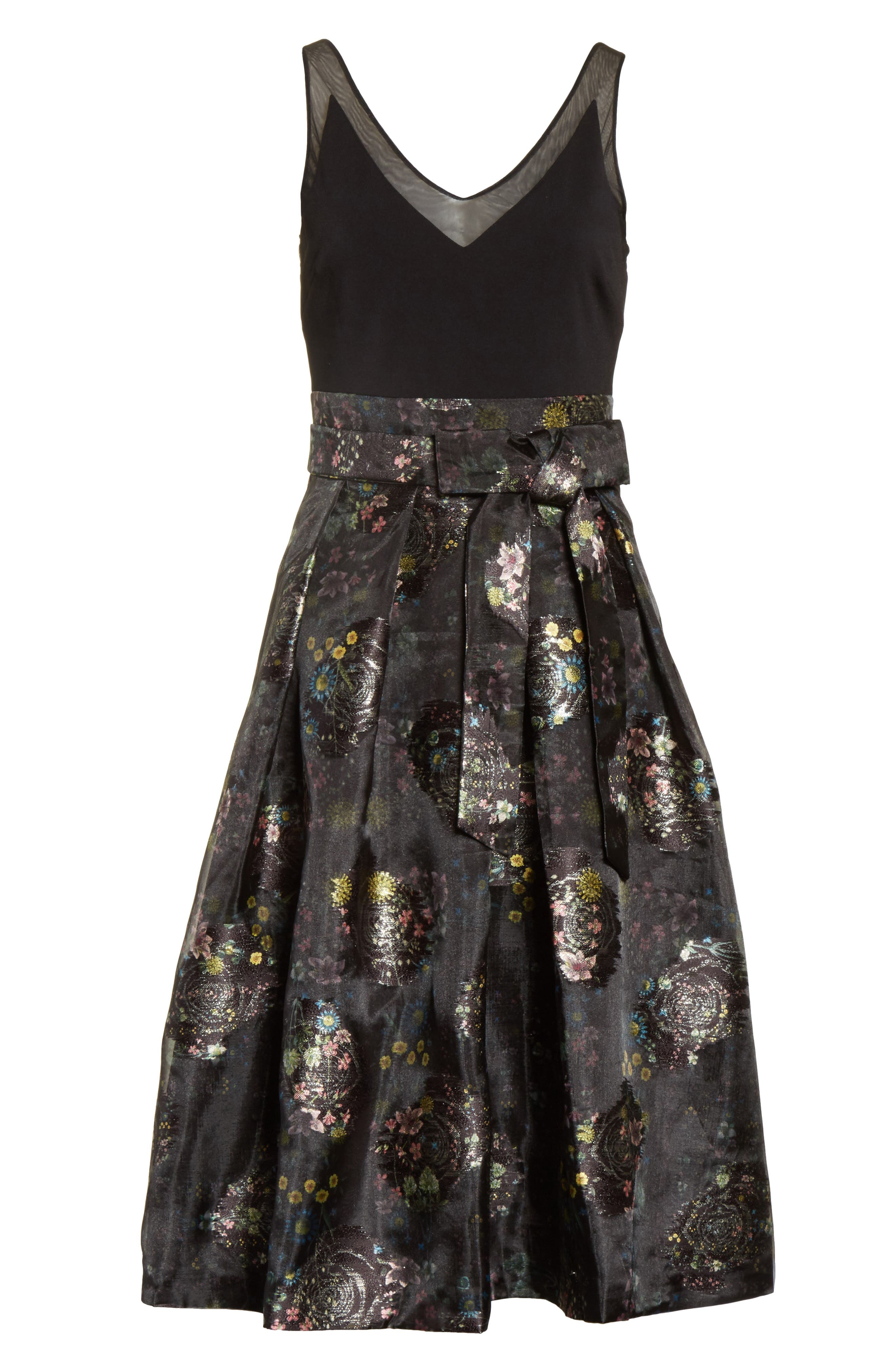 Alternate Image 6  - Ted Baker London Freay Metallic Floral Fit & Flare Dress