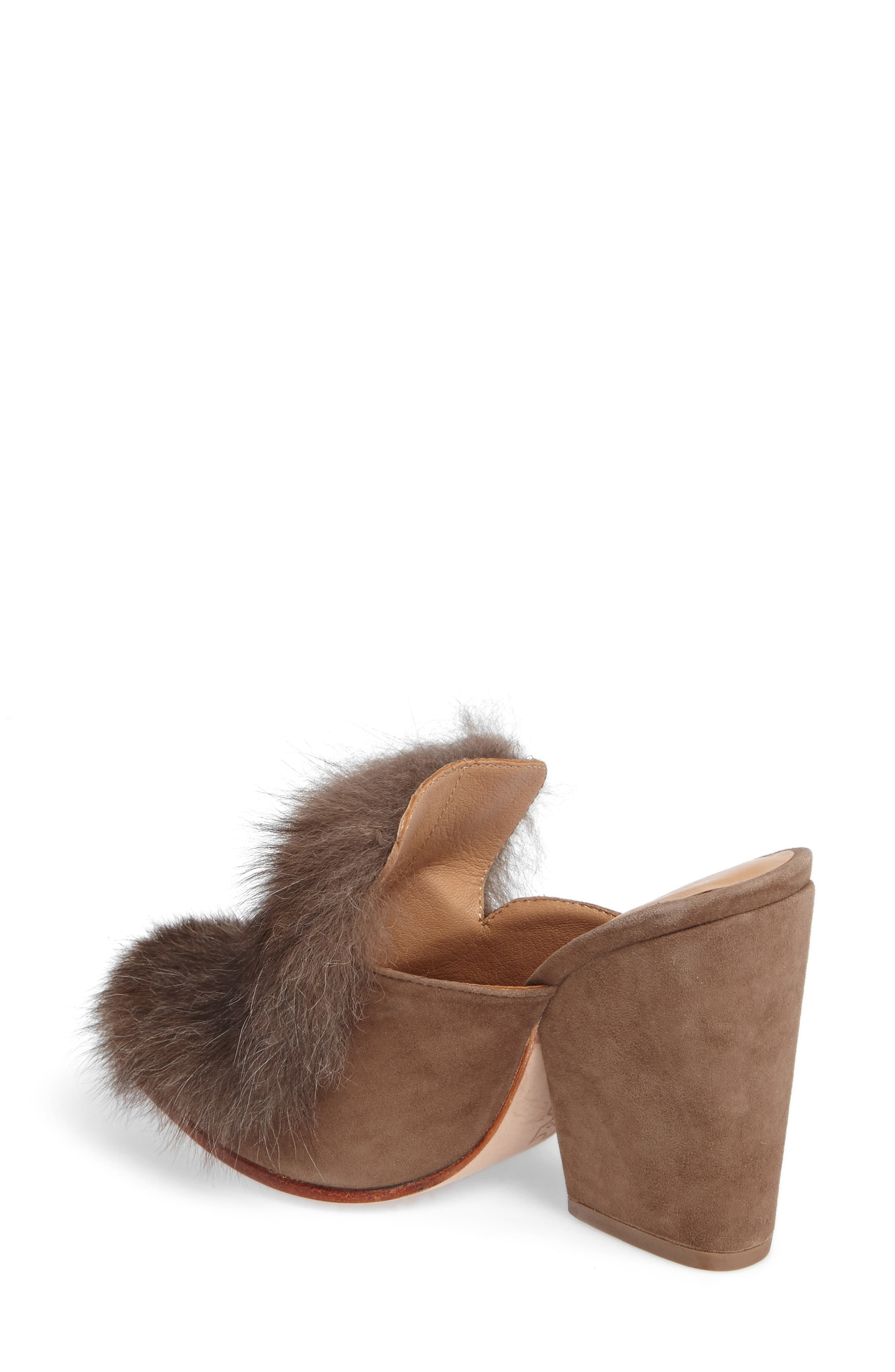 Alternate Image 2  - Huma Blanco Marietta Genuine Alpaca Hair Mule (Women)