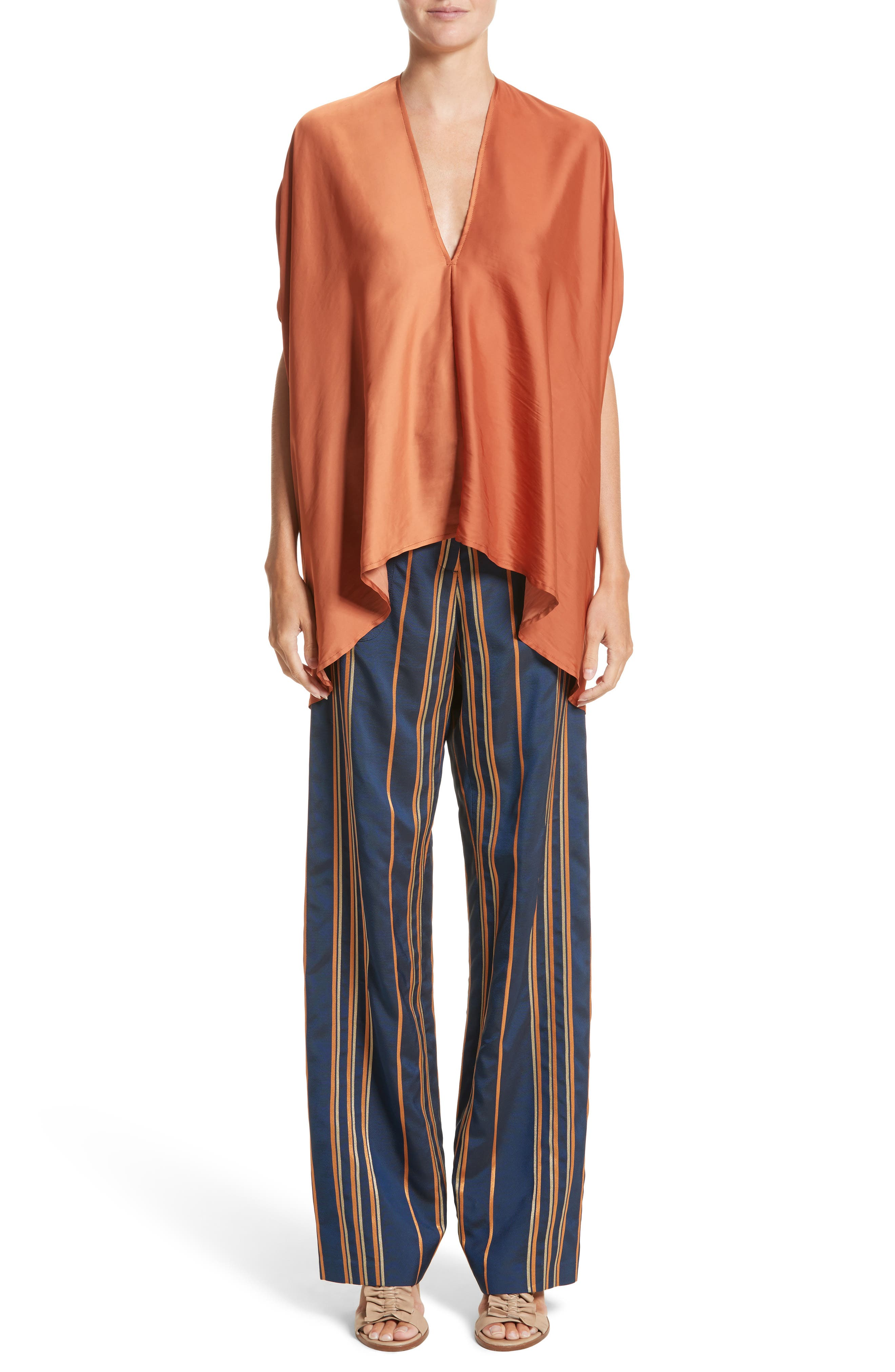 Drape Blouse,                             Alternate thumbnail 9, color,                             Tumeric