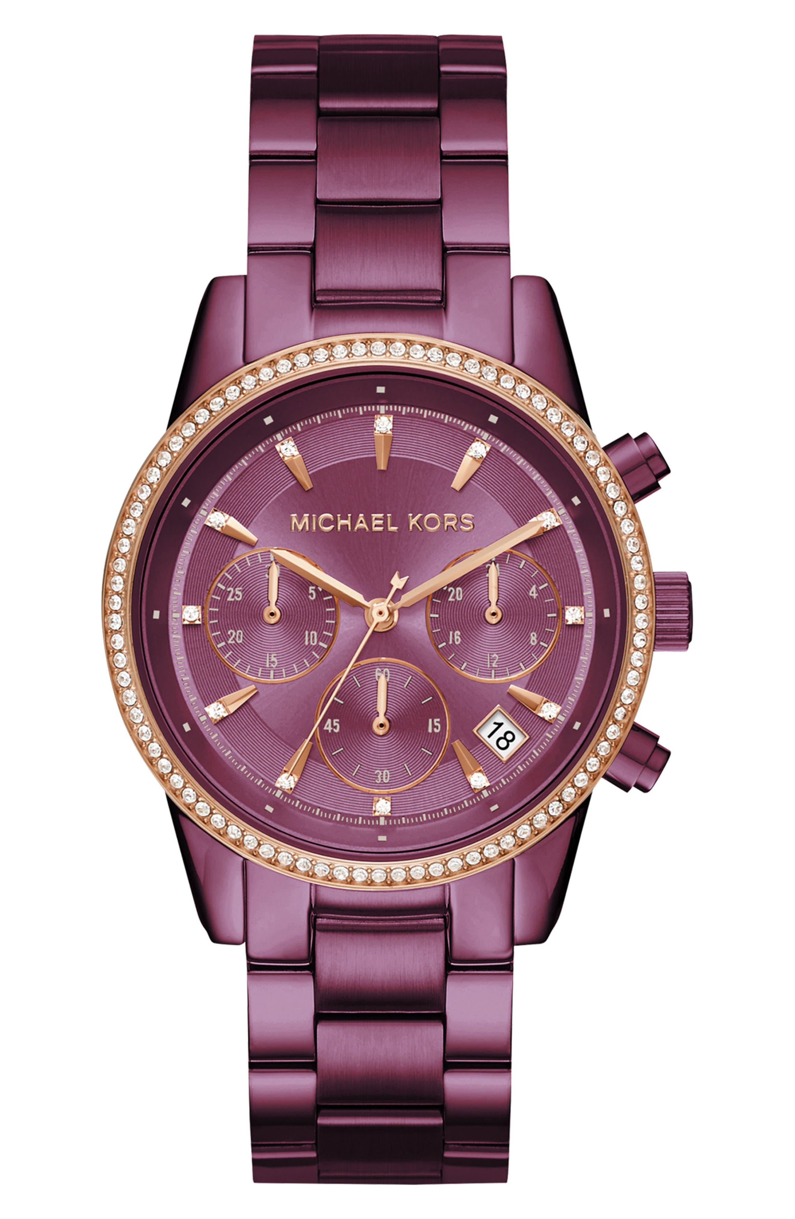 Michael Kors Ritz Crystal Chronograph Bracelet Watch, 37mm