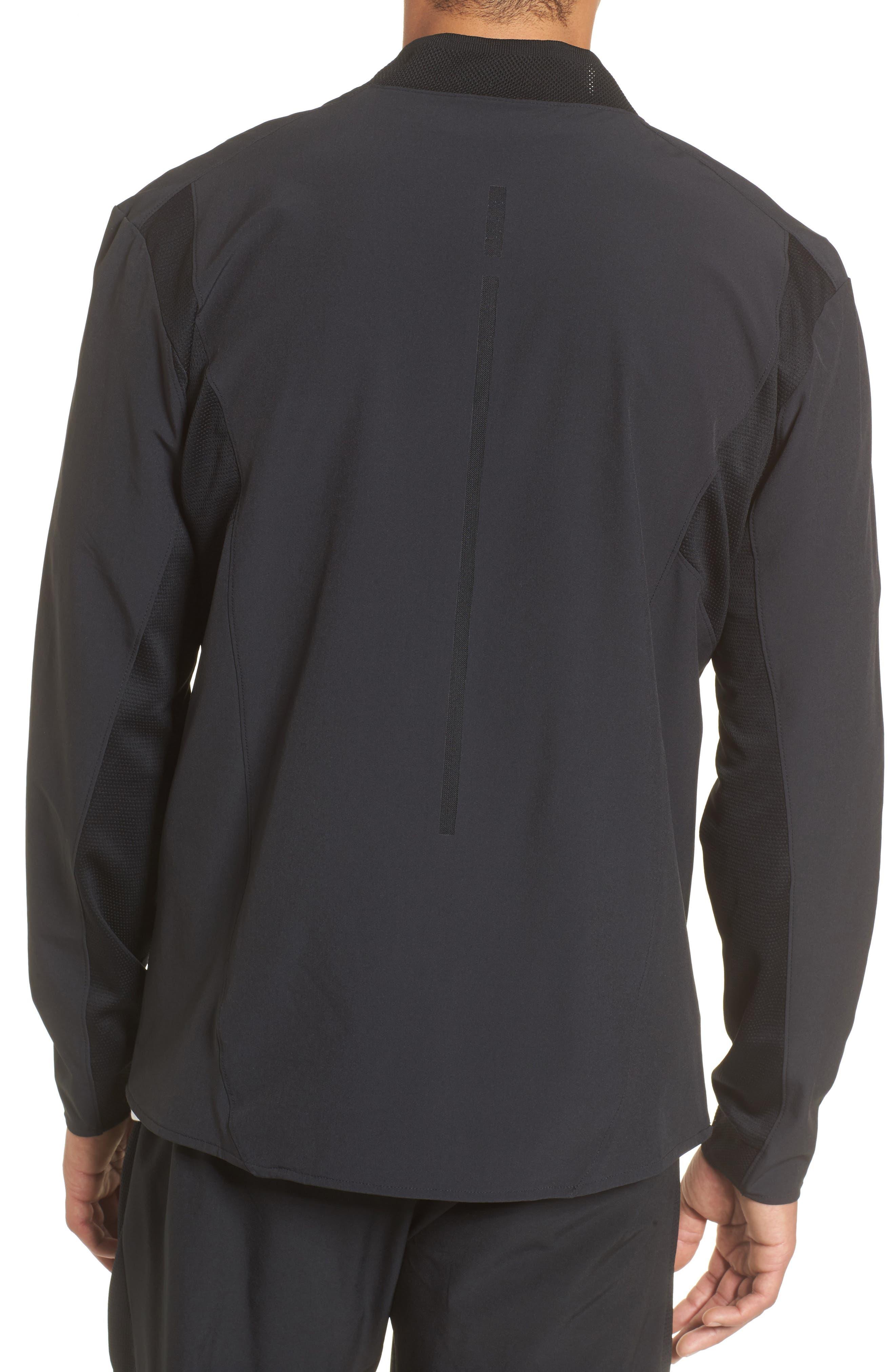 23 Alpha Dry Jacket,                             Alternate thumbnail 2, color,                             Black/ White