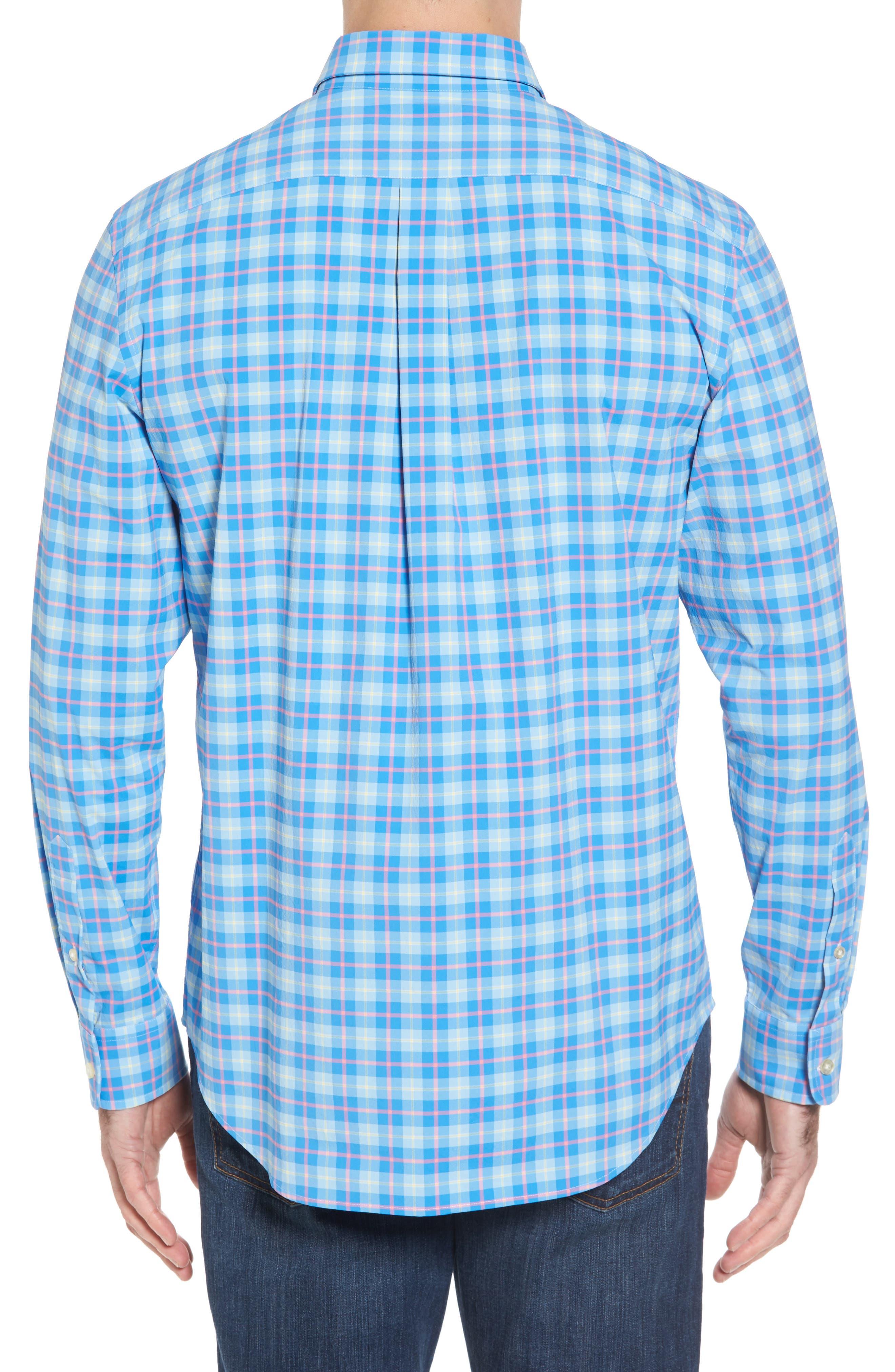 Alternate Image 2  - vineyard vines Blue Heron Classic Fit Plaid Sport Shirt