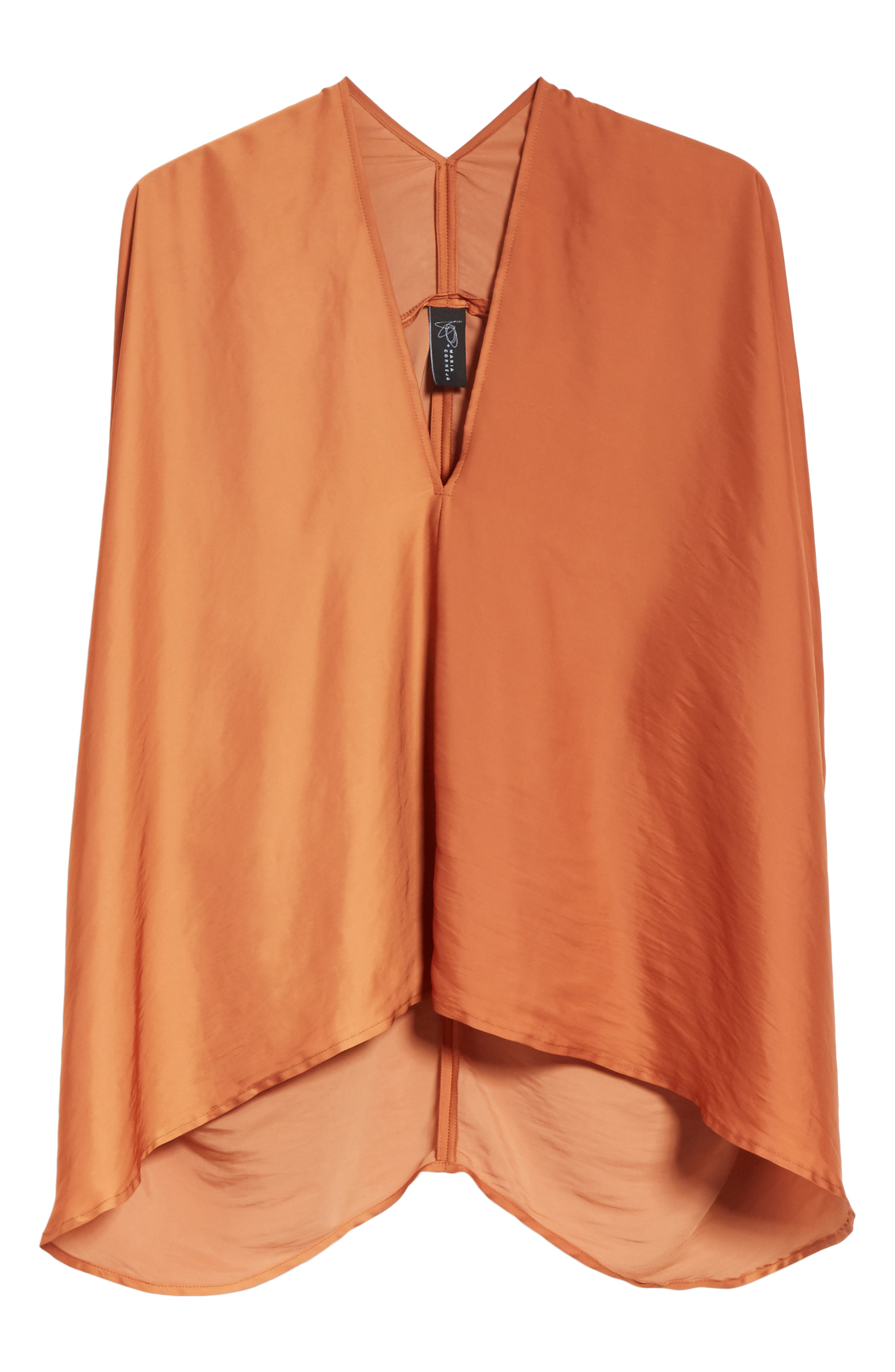 Drape Blouse,                             Alternate thumbnail 8, color,                             Tumeric