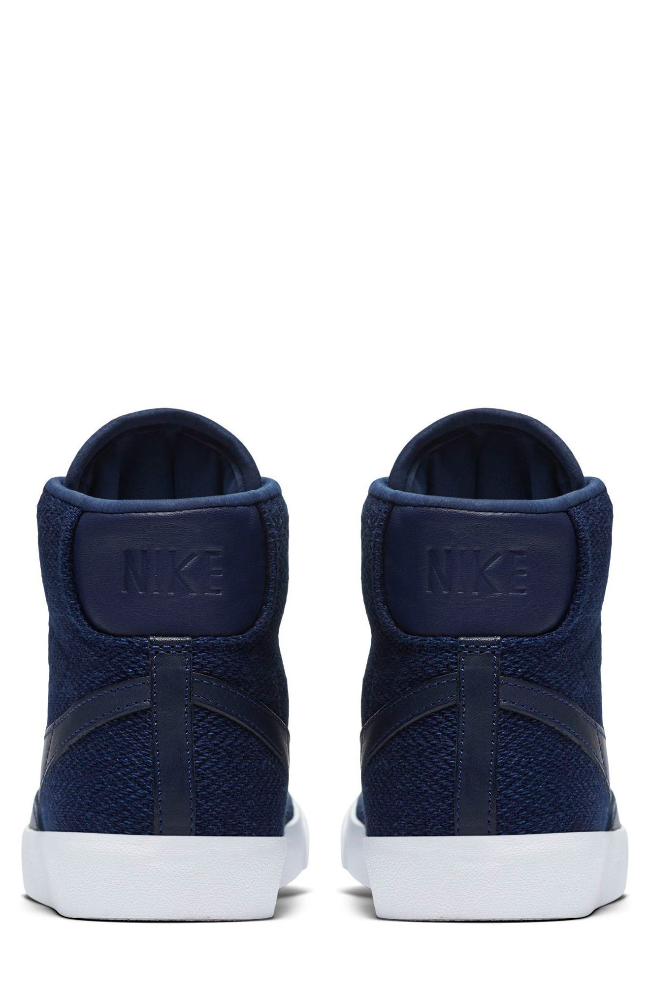 Blazer Mid Premium LX Sneaker,                             Alternate thumbnail 5, color,                             Binary Blue/ Binary Blue