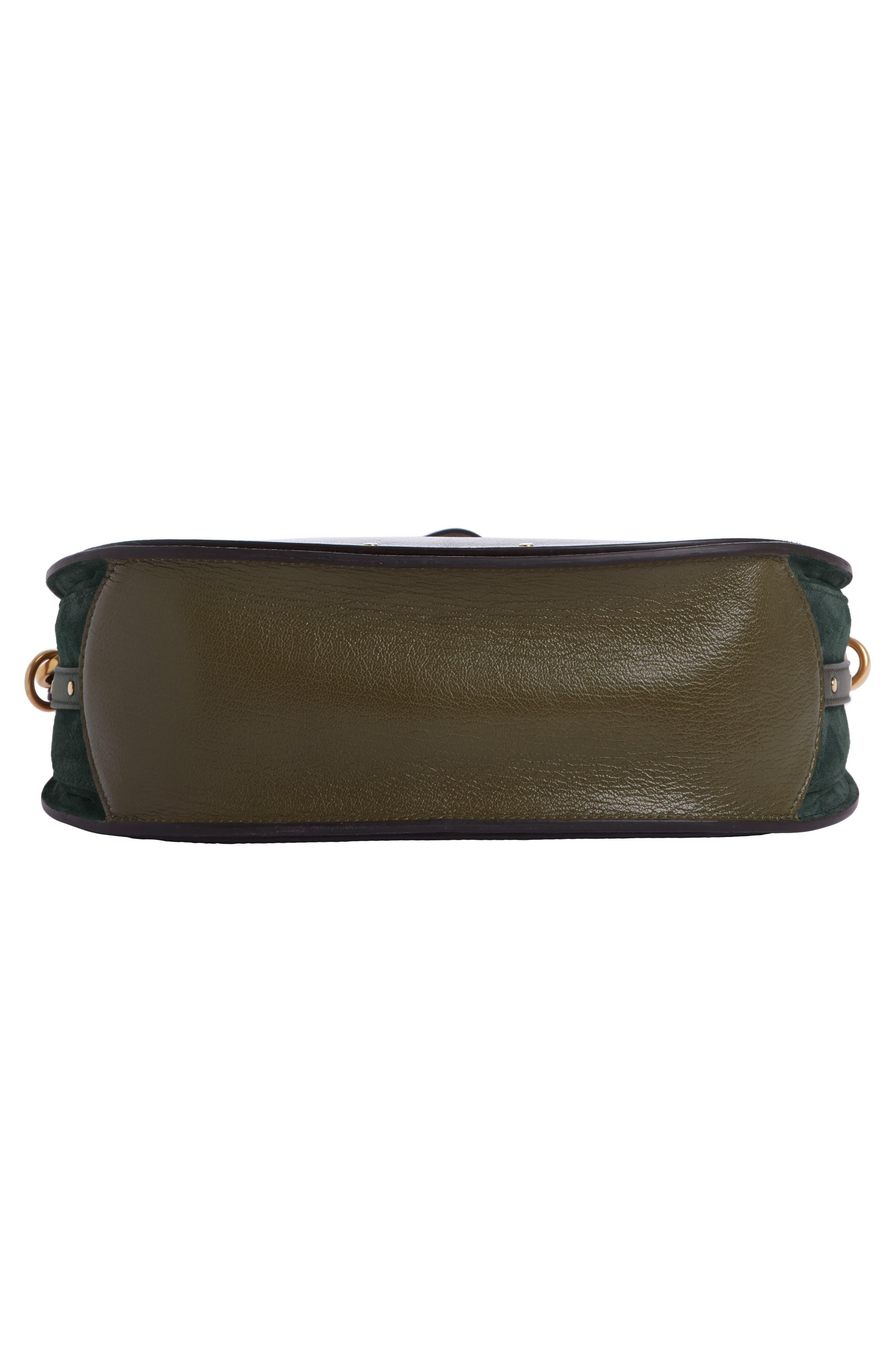 Medium Pixie Top Handle Leather Satchel,                             Alternate thumbnail 4, color,                             Intense Green