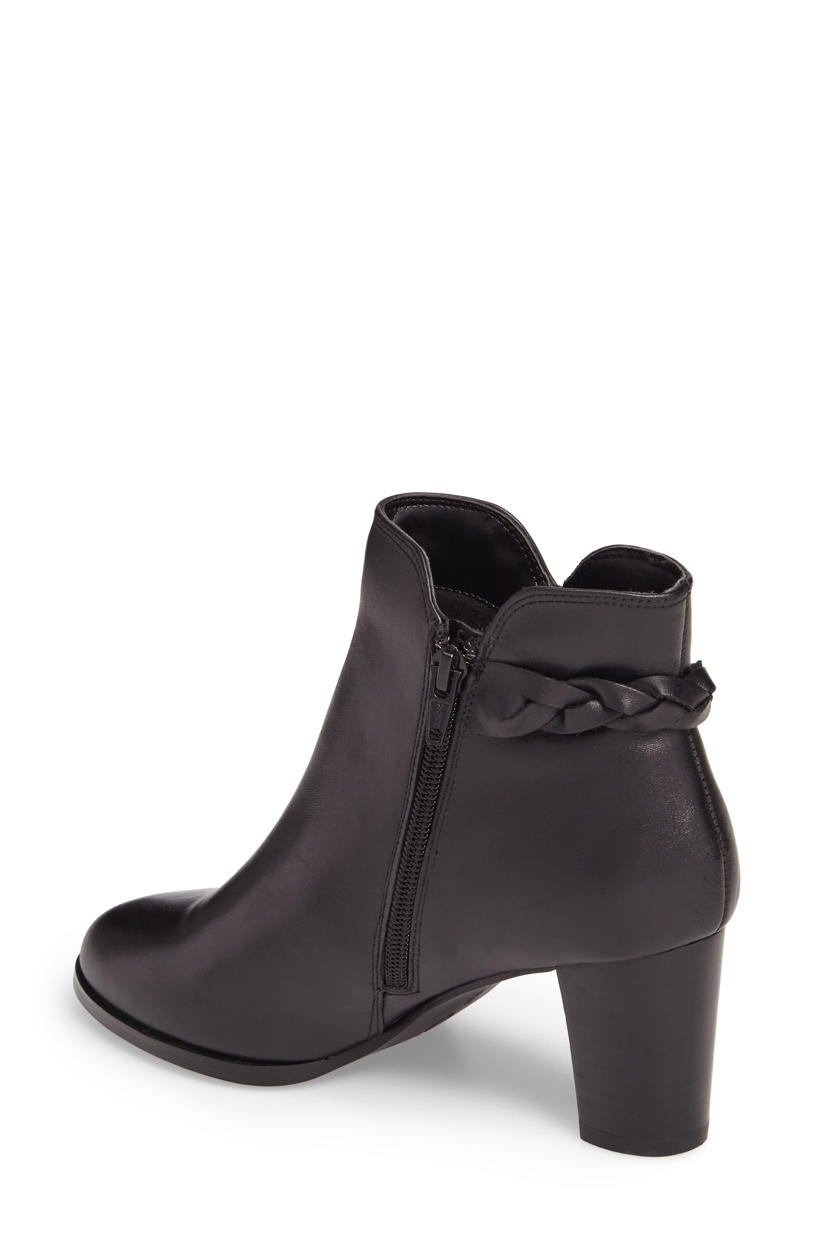 Doran Bootie,                             Alternate thumbnail 2, color,                             Black Leather