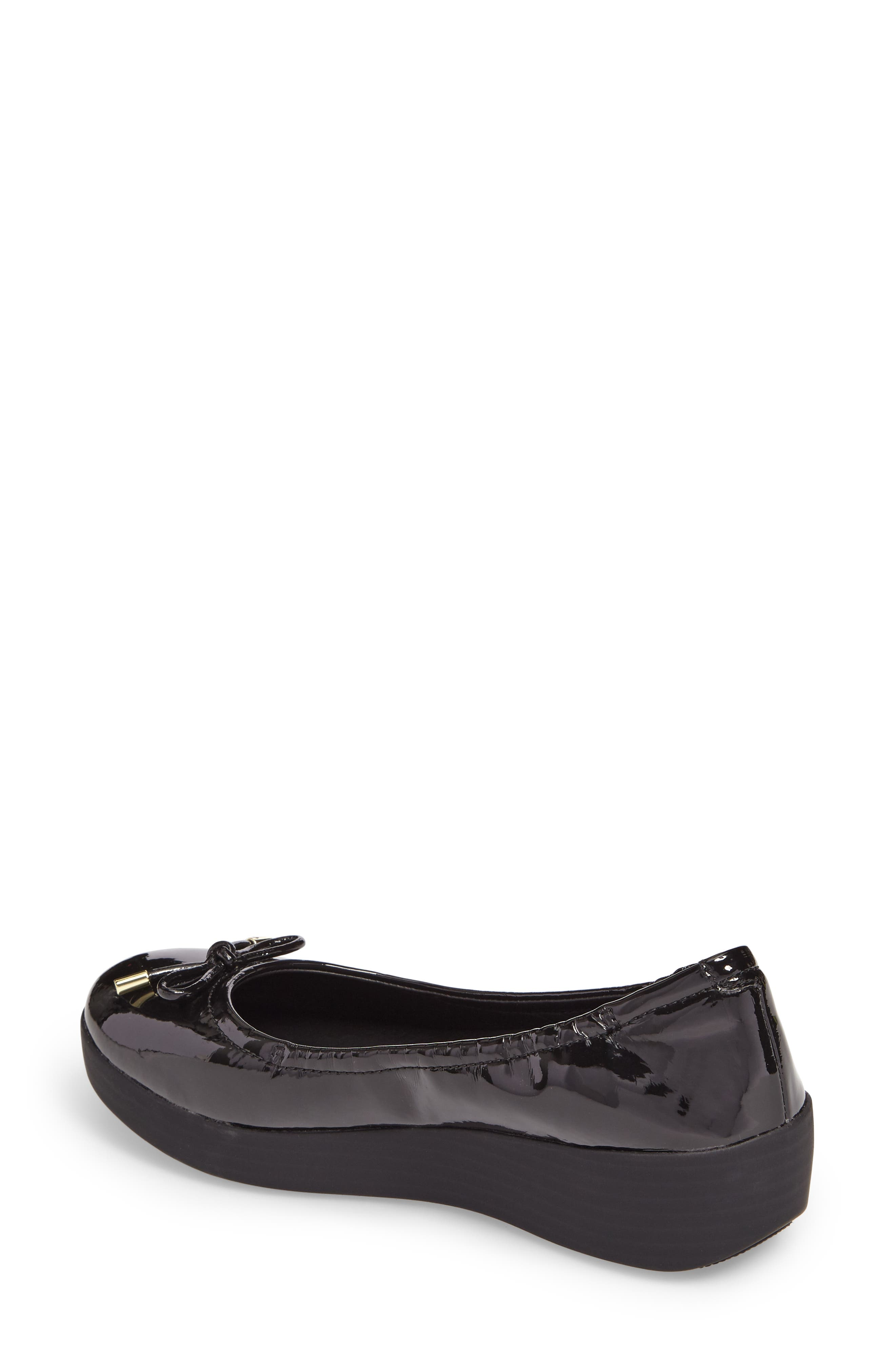 SuperBendy<sup>™</sup> Ballet Flat,                             Alternate thumbnail 2, color,                             Black Faux Patent