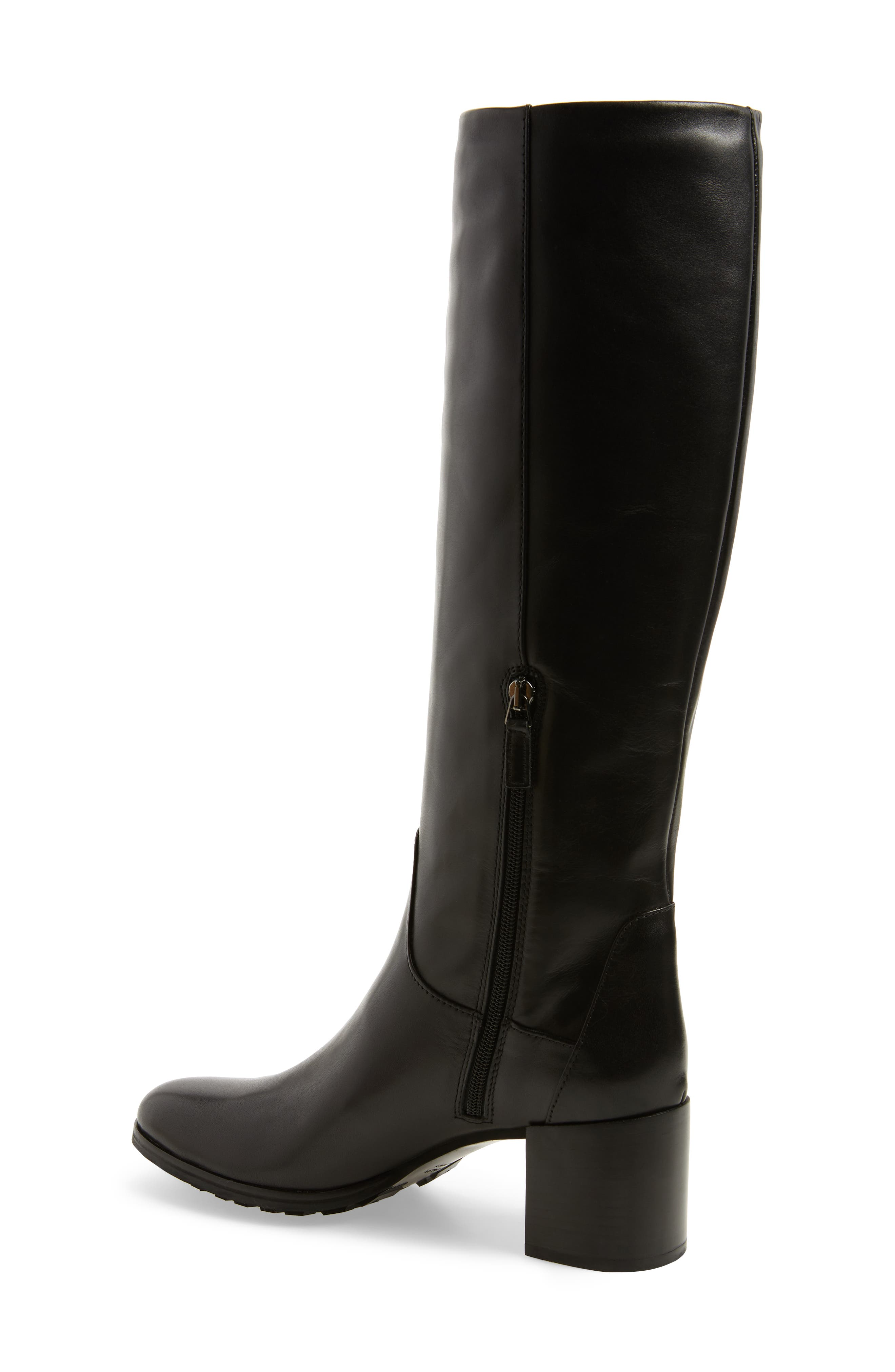 Evelin Weatherproof Knee High Boot,                             Alternate thumbnail 2, color,                             Black Calf