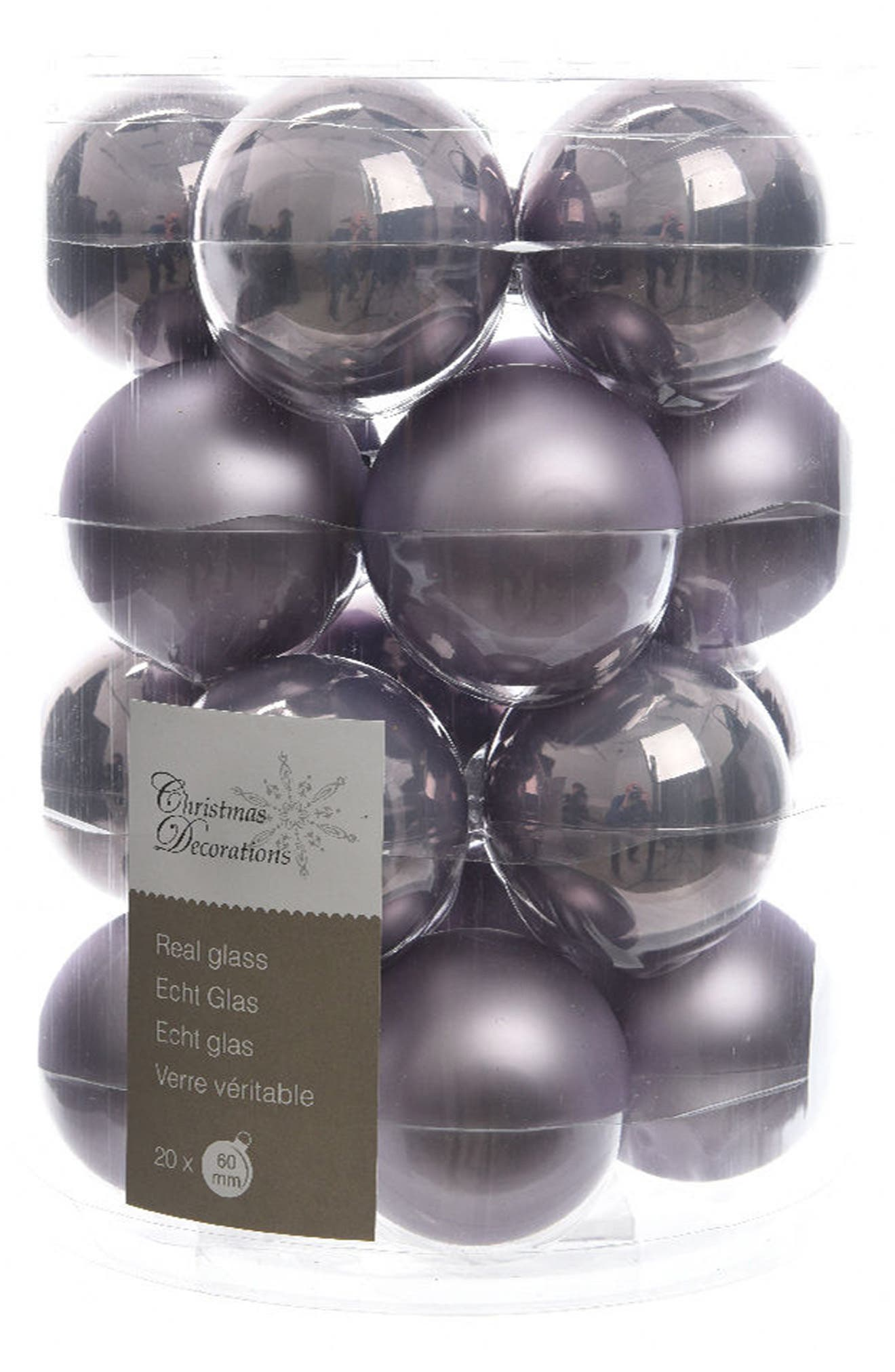 Decoris Glass Ball Ornaments