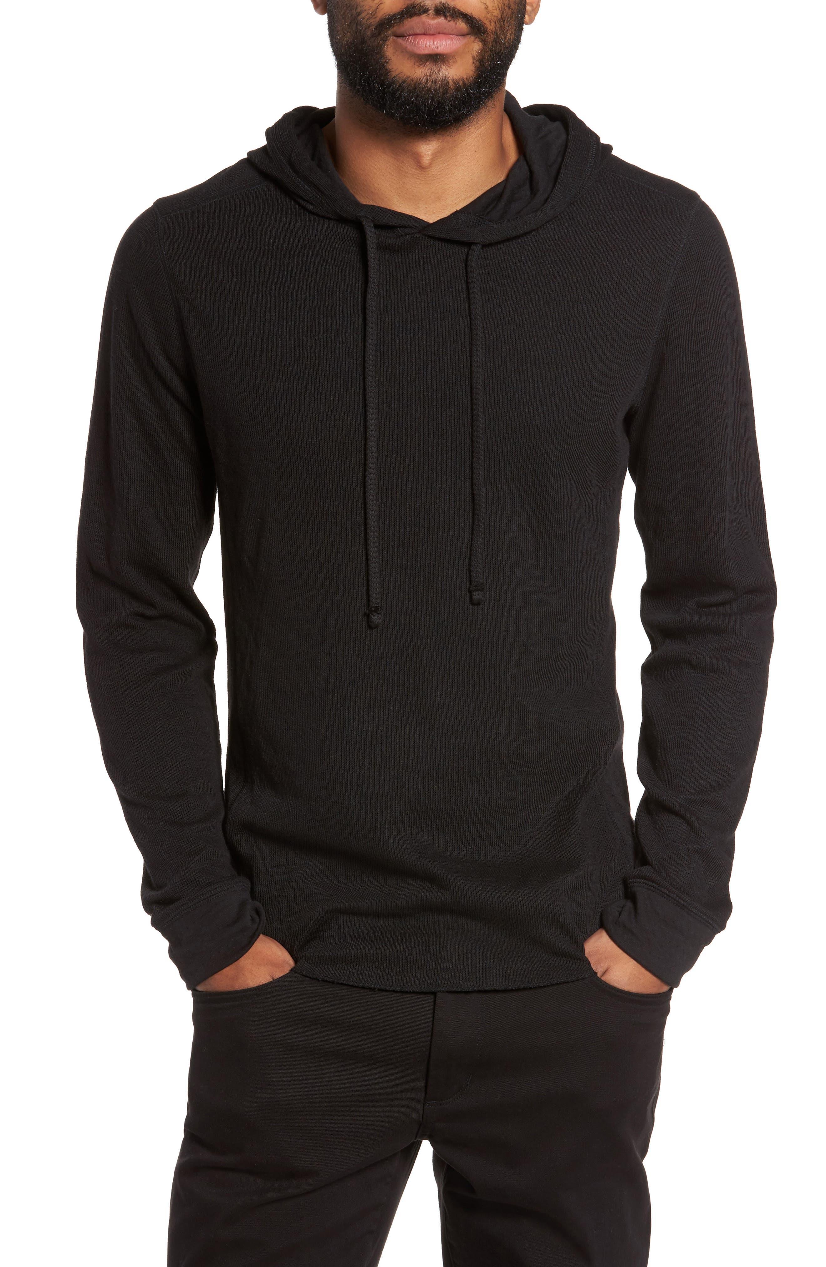 Double Knit Hoodie,                         Main,                         color, Black
