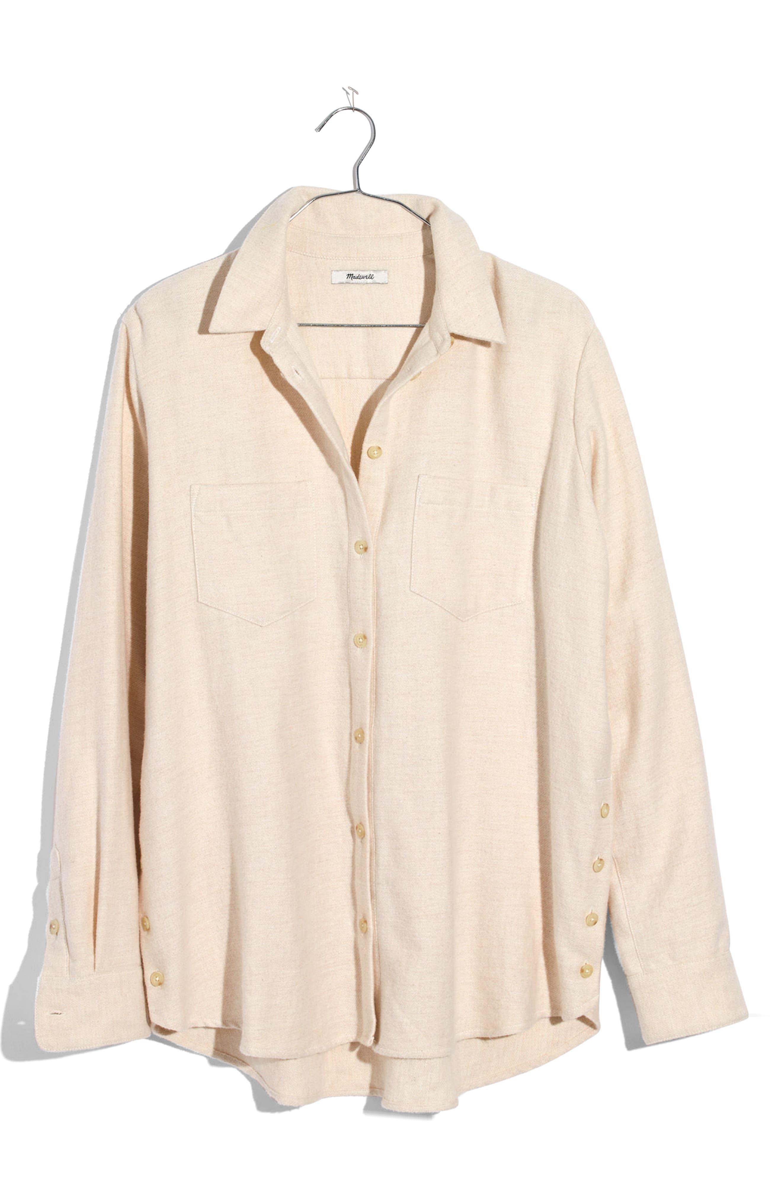 Main Image - Madewell Ex-Boyfriend Side Button Flannel Shirt