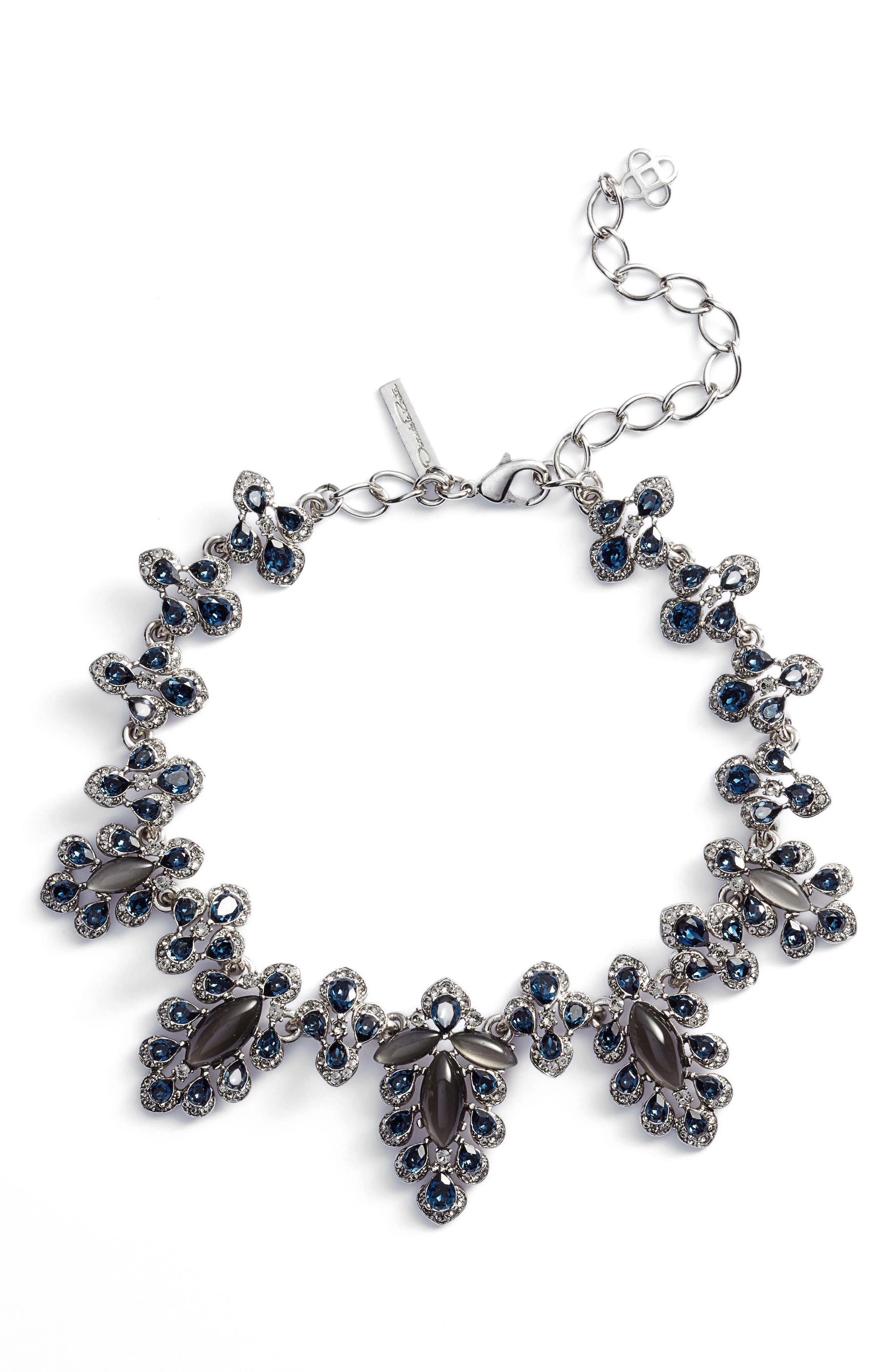 Parlor Collar Necklace,                         Main,                         color, Antique Silver